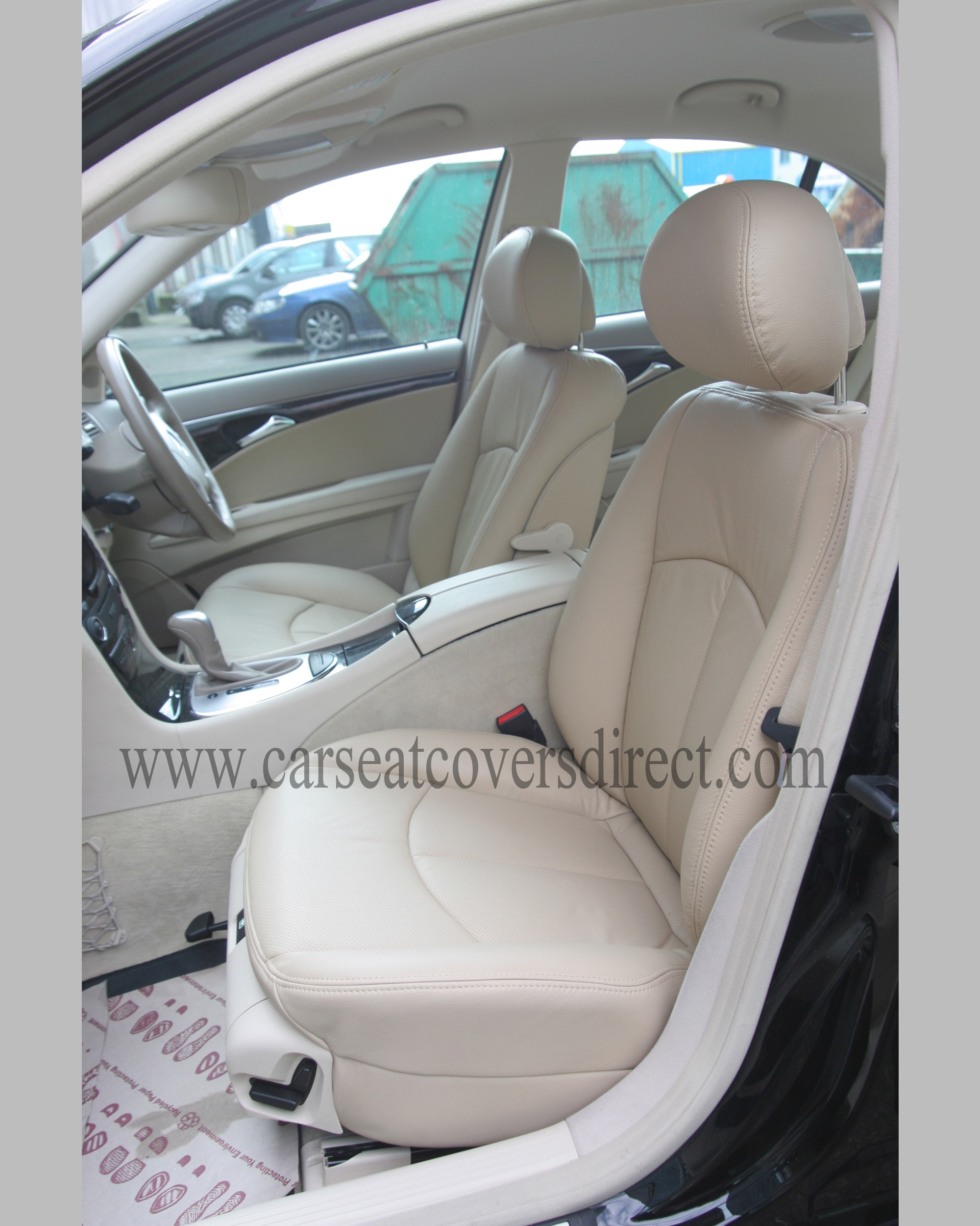 Leatherette beige Car seat covers fit MERCEDES E CLASS