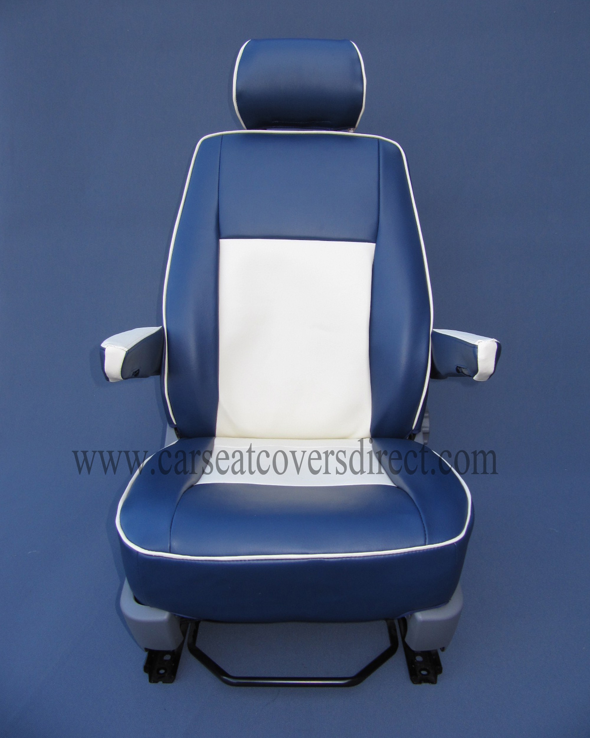 VW T6 Seat Covers Blue & White Car Seat Covers Direct Tailored