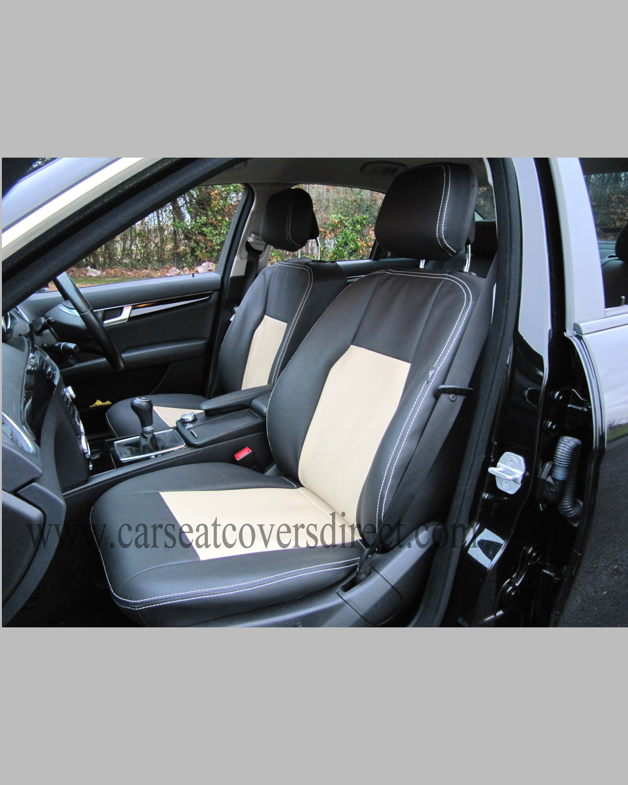 mercedes c class w204 black beige seat covers car seat covers direct tailored to your choice. Black Bedroom Furniture Sets. Home Design Ideas