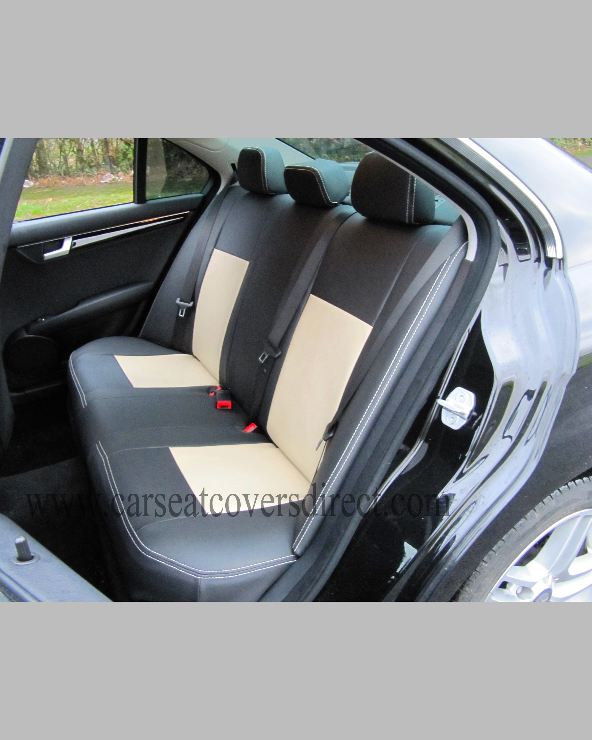 Mercedes c class w204 black beige seat covers car seat for Mercedes benz e350 car cover