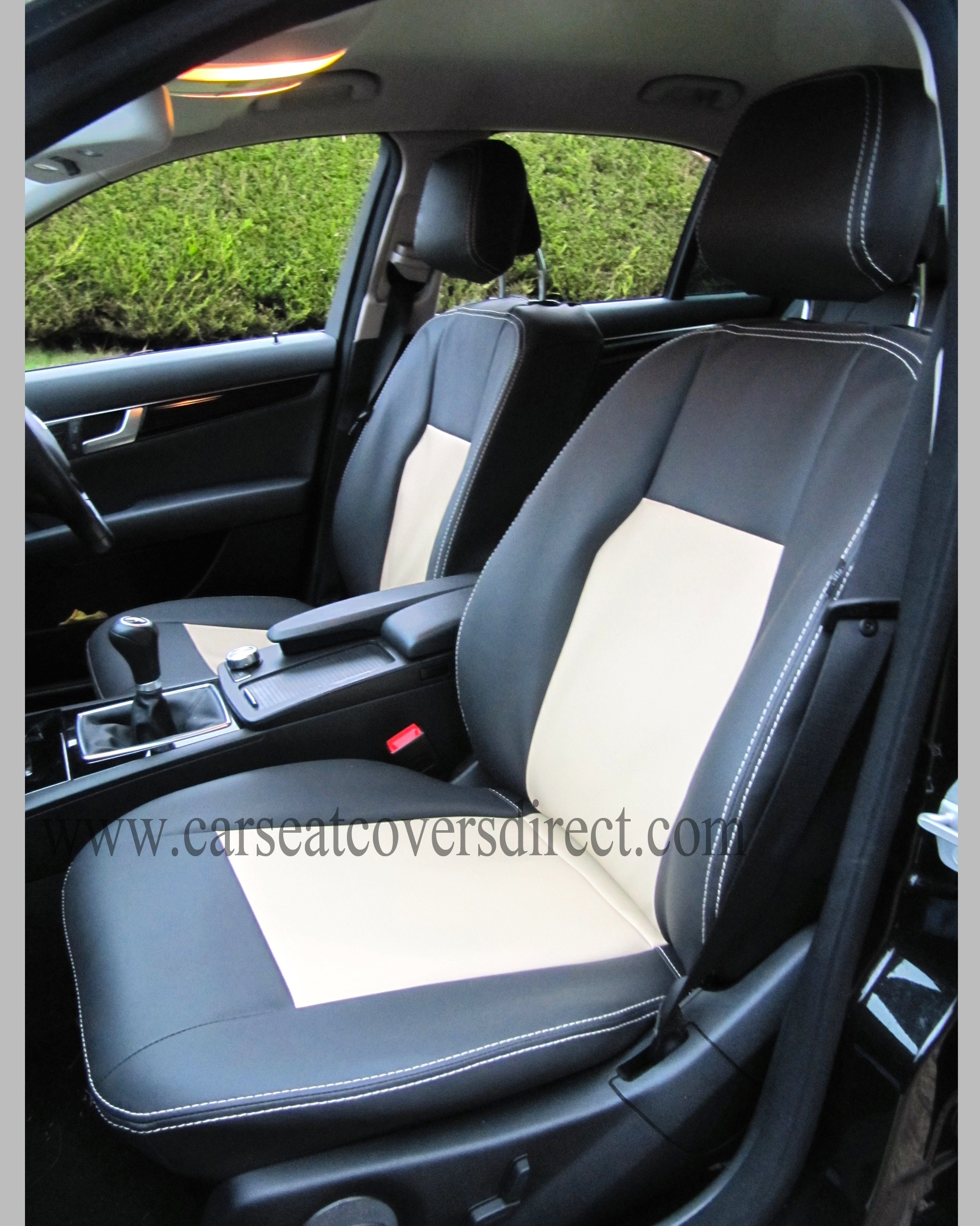 mercedes c class w204 black beige seat covers car seat