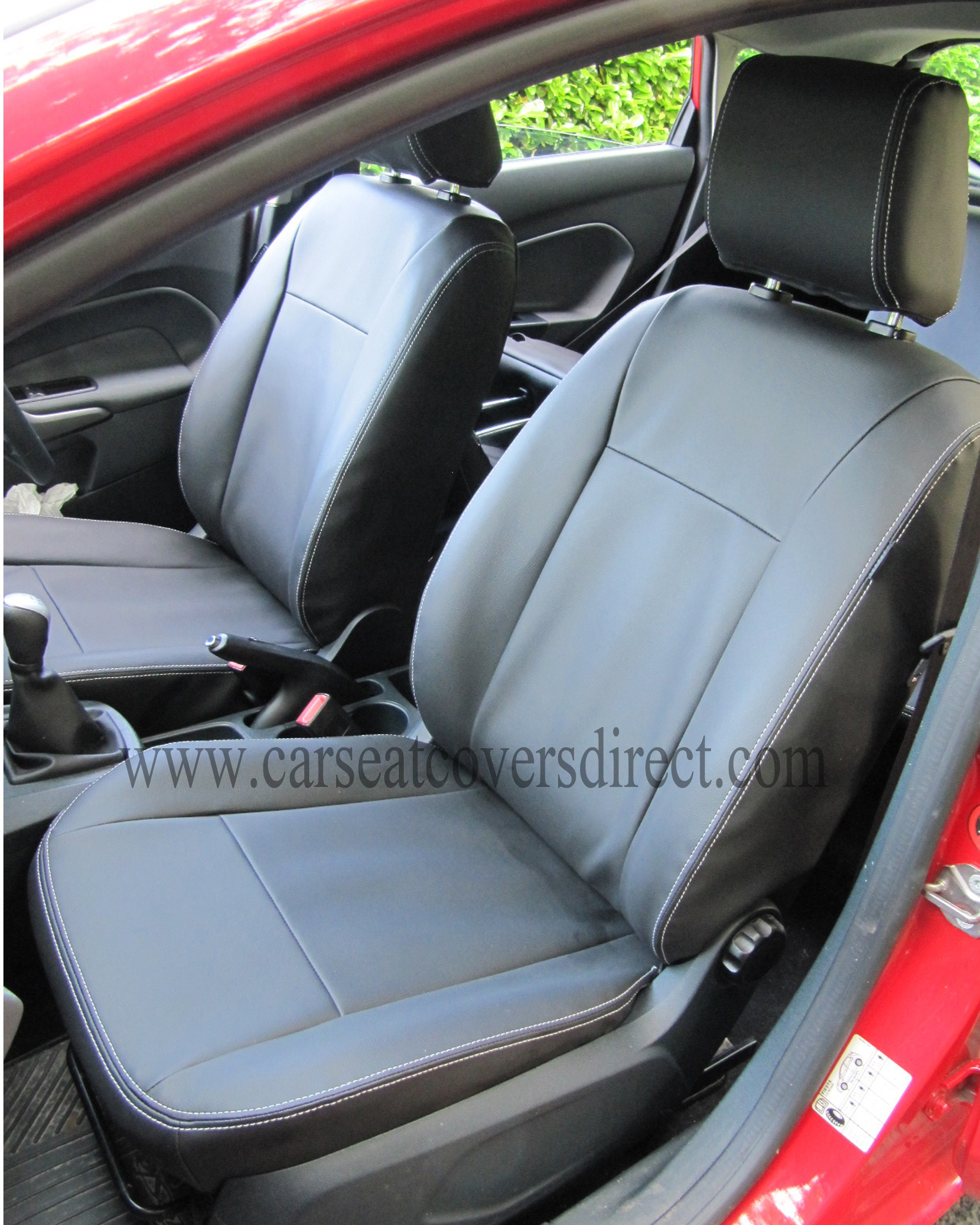 ford fiesta seat covers black leatherette car seat. Black Bedroom Furniture Sets. Home Design Ideas