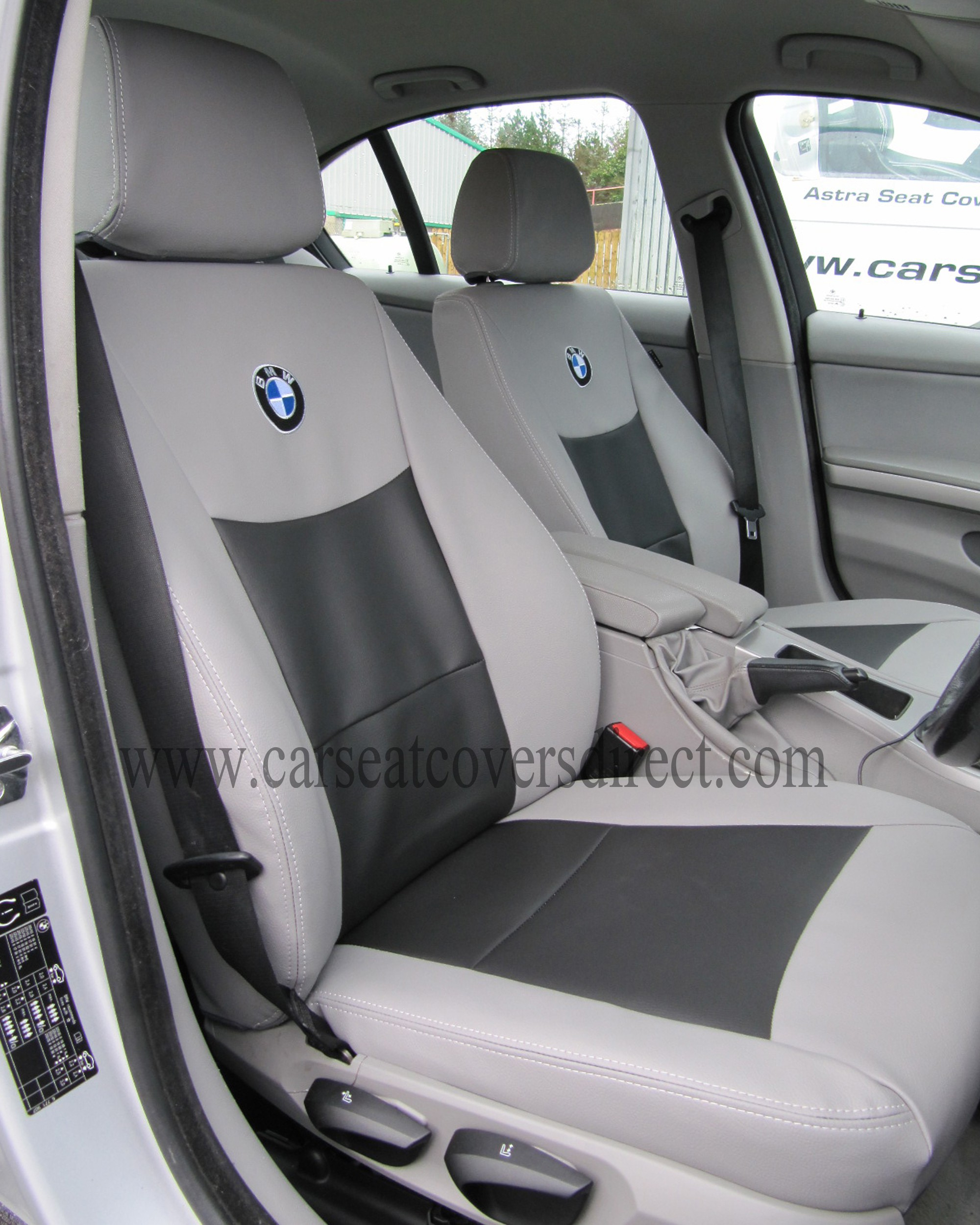 bmw 3 series e90 grey & black seat covers car seat covers direct