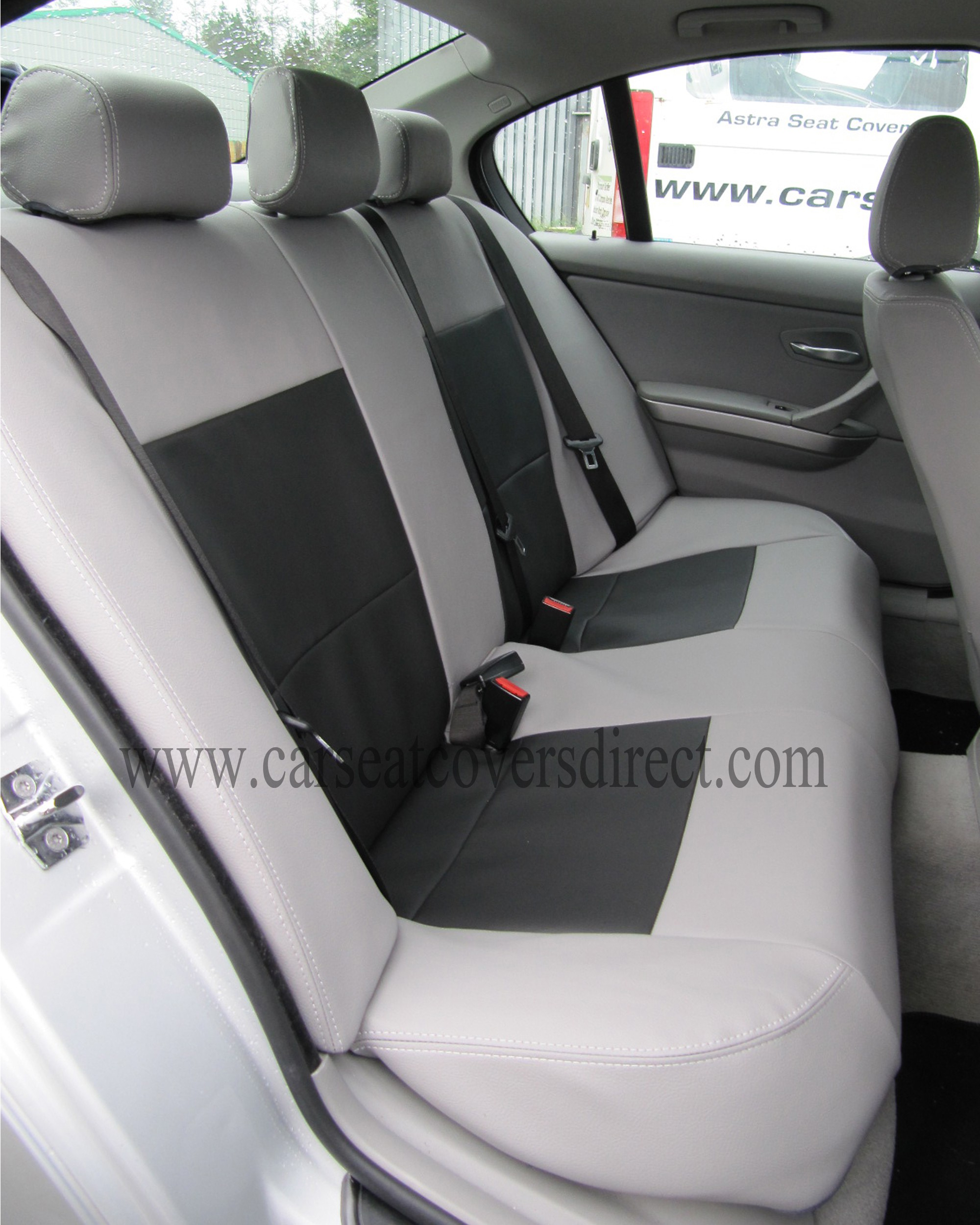 bmw 3 series e90 grey black seat covers car seat covers direct tailored to your choice. Black Bedroom Furniture Sets. Home Design Ideas