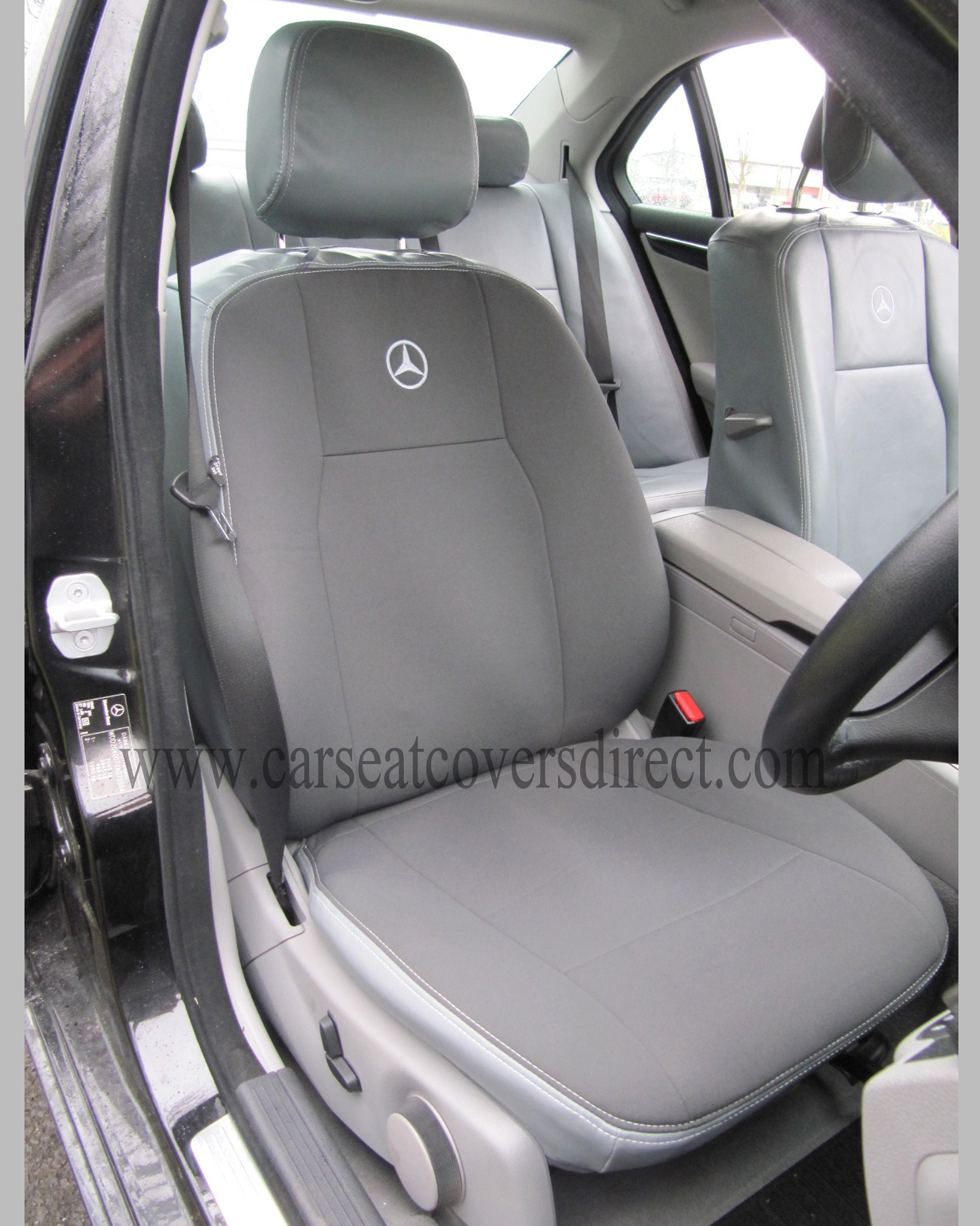 Mercedes C Class W204 Grey Leatherette Seat Covers
