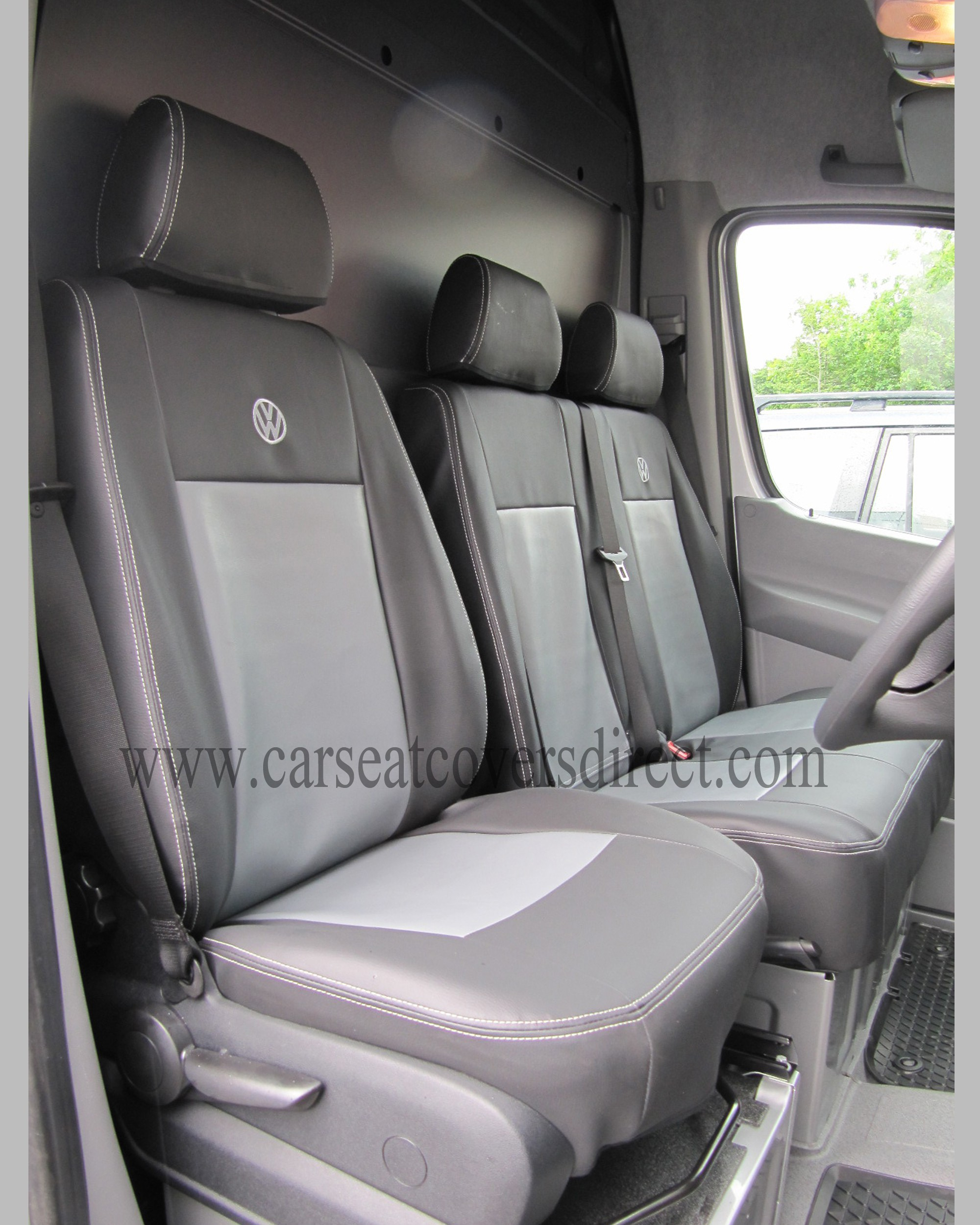 volkswagen vw crafter black grey seat covers car seat covers direct tailored to your choice. Black Bedroom Furniture Sets. Home Design Ideas