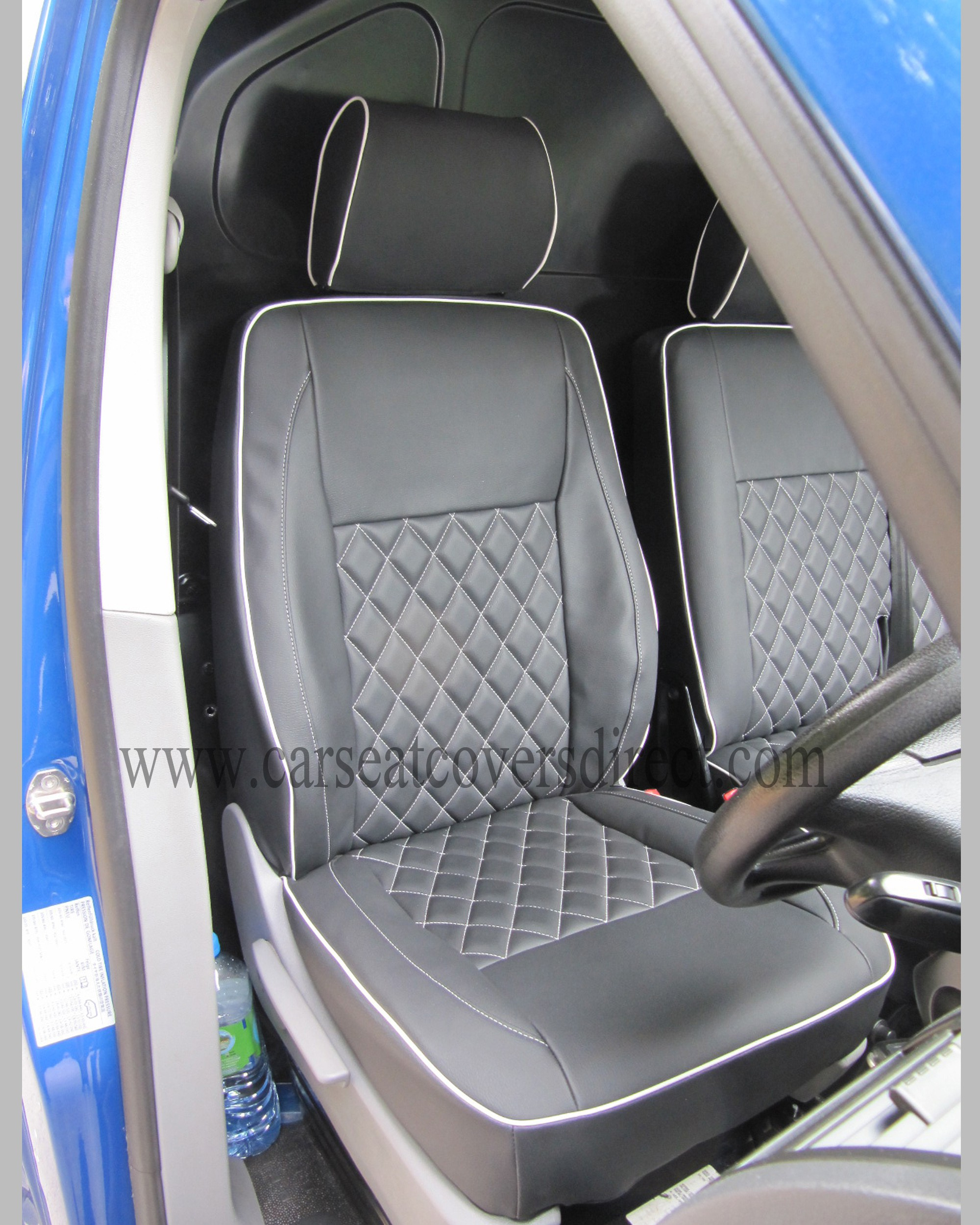 Vw T5 Seat Covers Diamond Stitched Black Amp Grey Car Seat