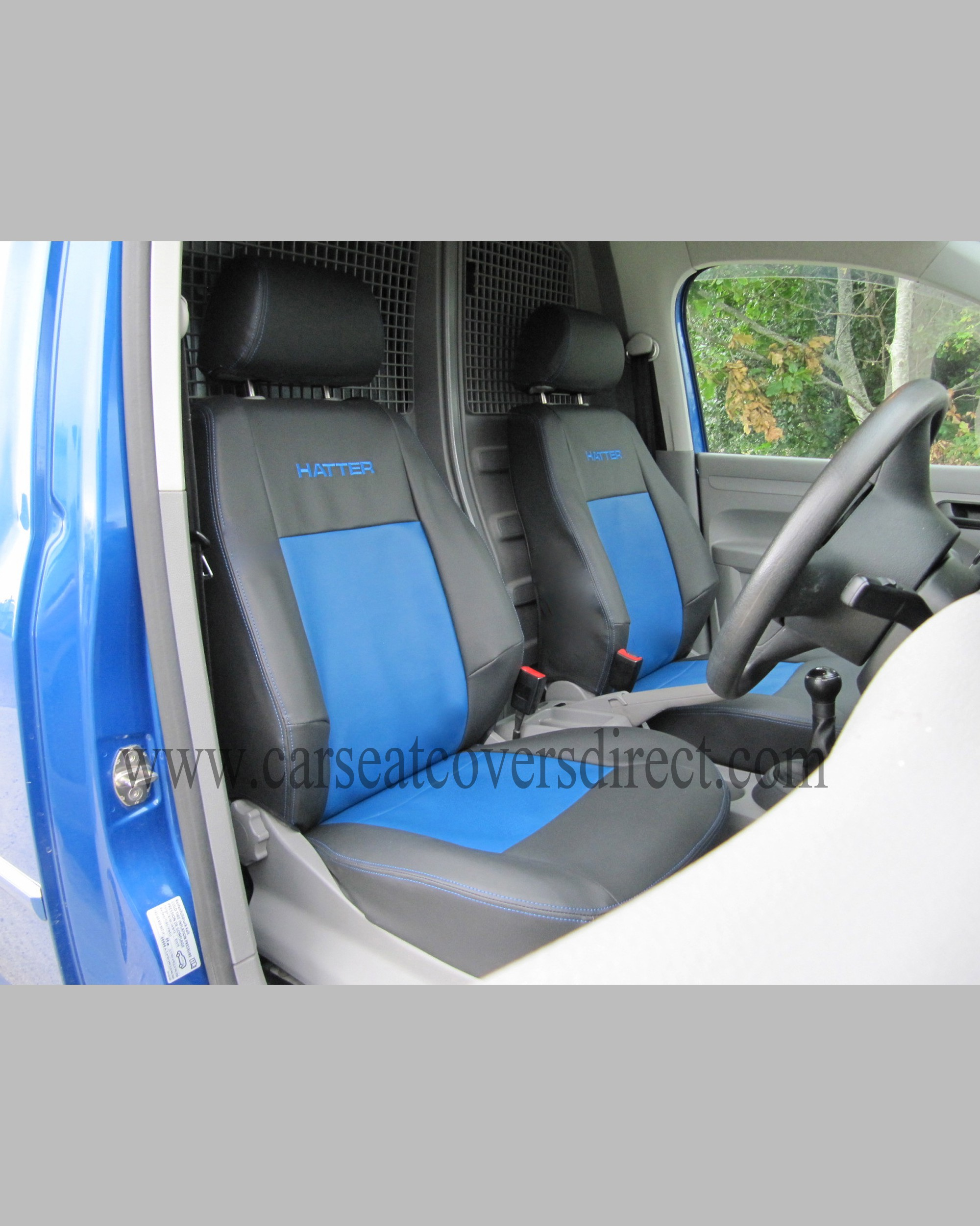 VOLKSWAGEN VW CADDY Black Amp Blue Seat Covers