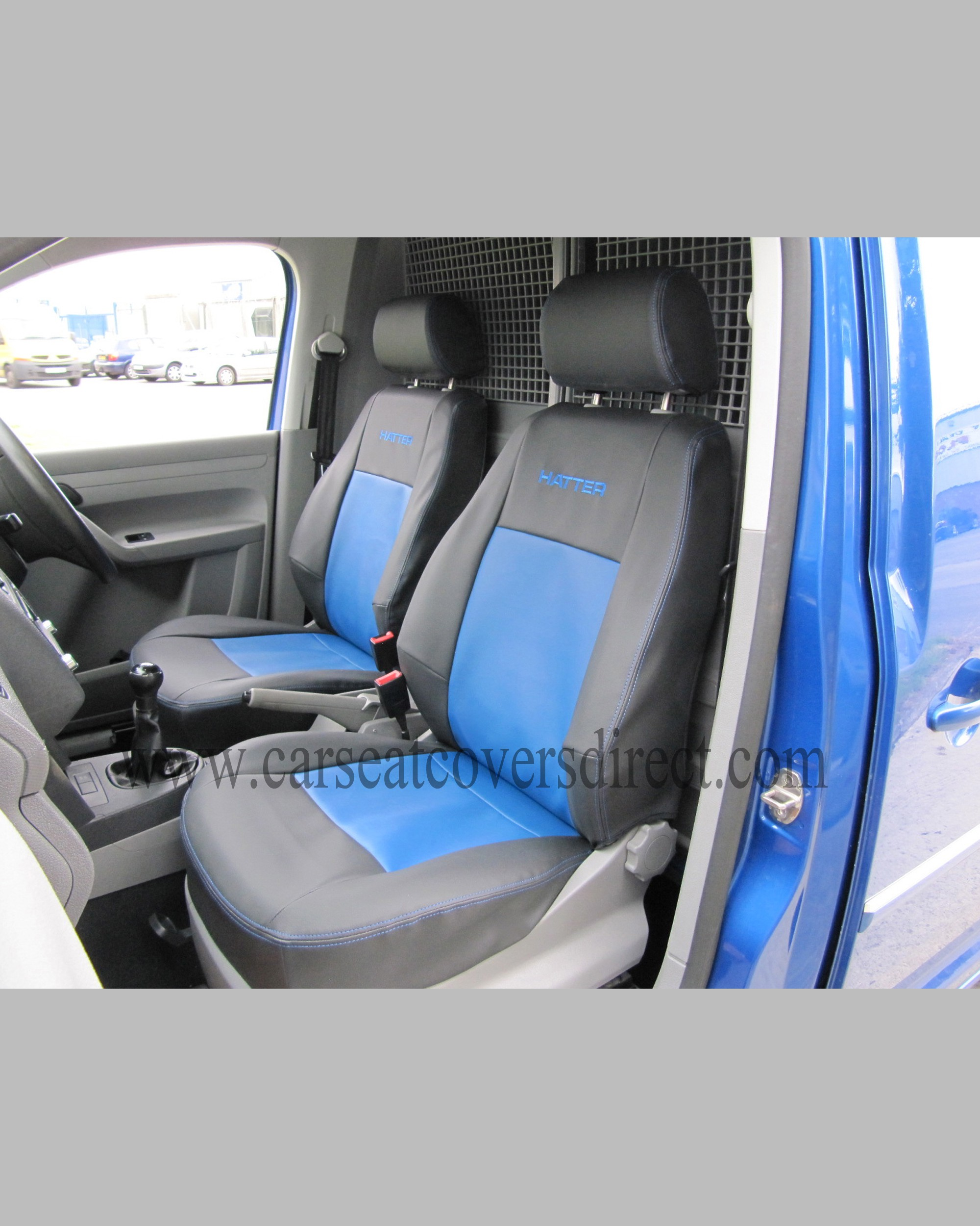 VOLKSWAGEN VW CADDY Black Amp Blue Seat Covers Car Seat