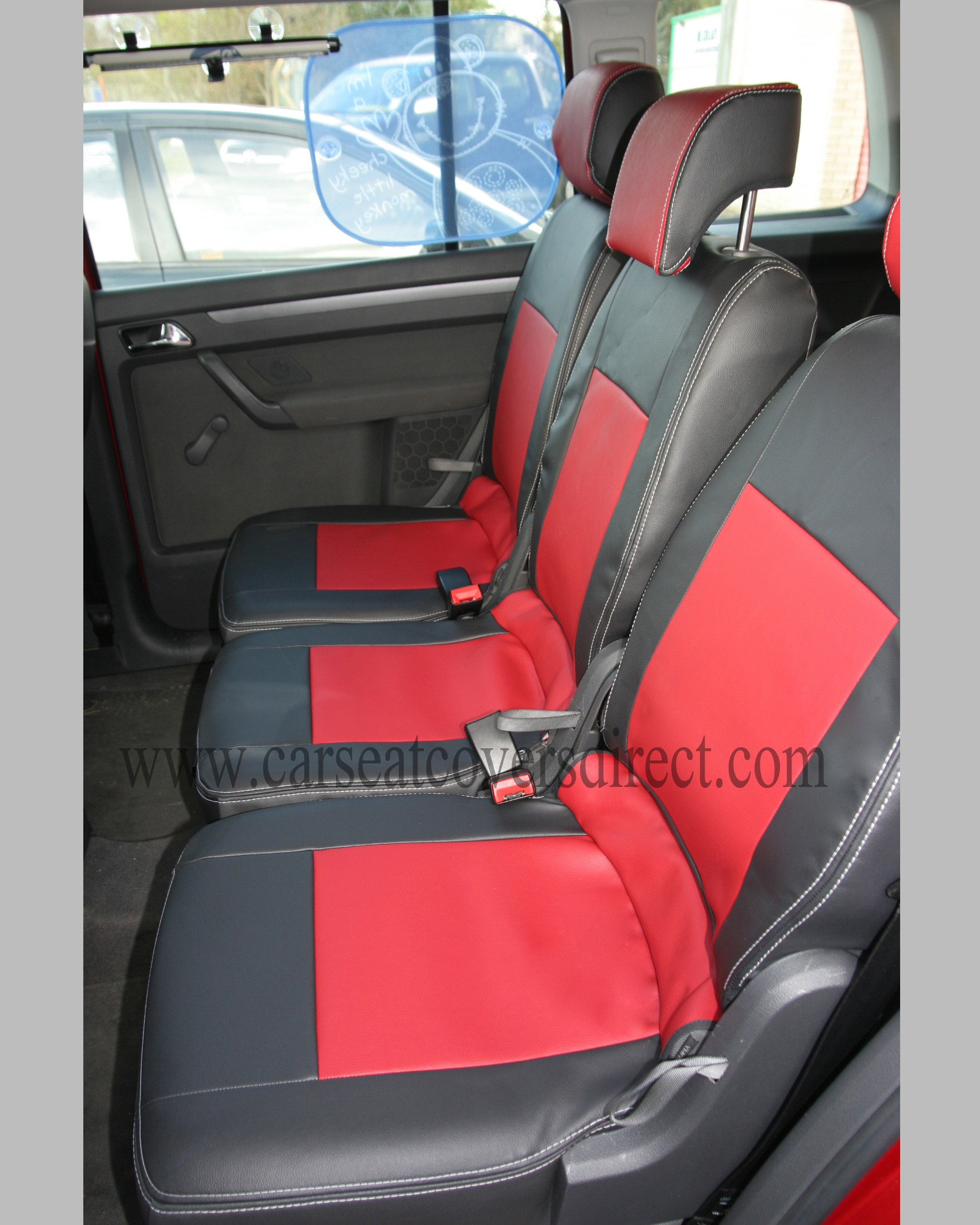 Volkswagen Vw Touran Black Amp Red Seat Covers 7 Seats