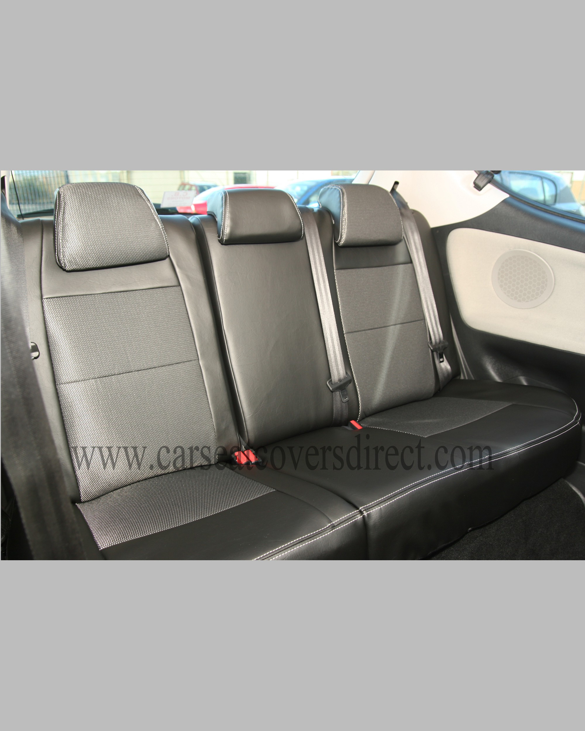 Custom PEUGEOT 207 Black Leatherette Seat Covers With