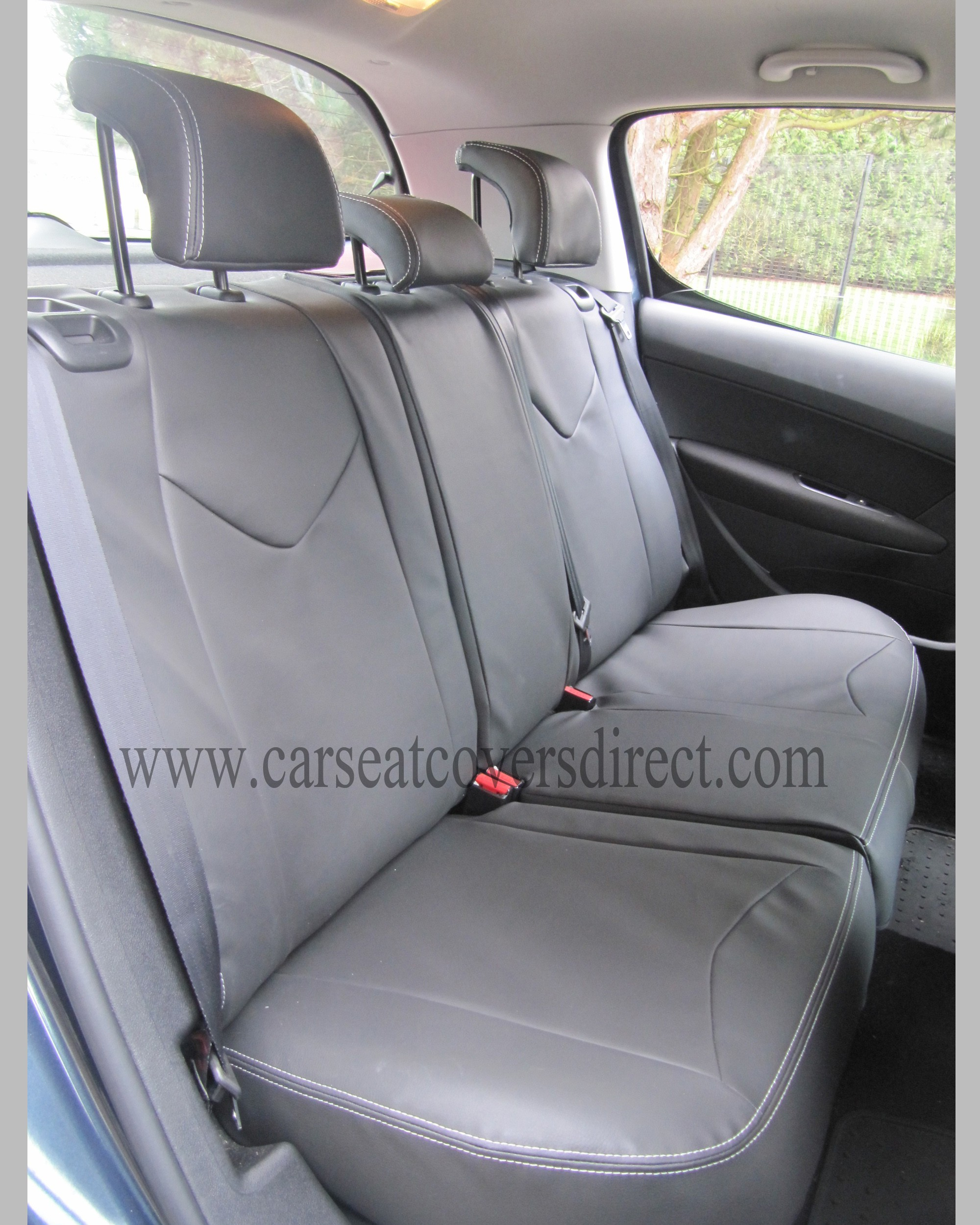 Custom PEUGEOT 308 Black Seat Covers
