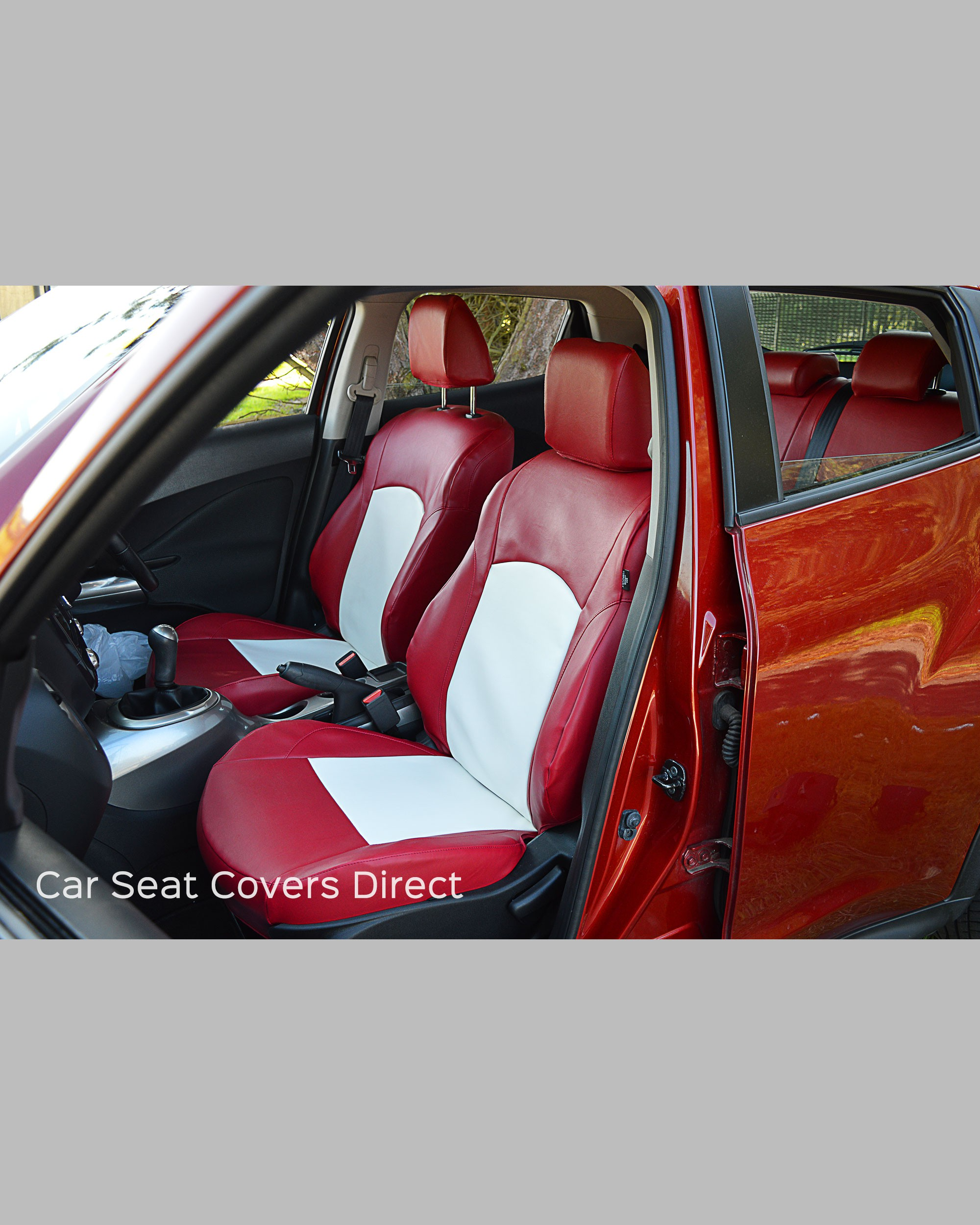 Nissan Juke Tailored Waterproof Seat Covers Genuine Fit Red White