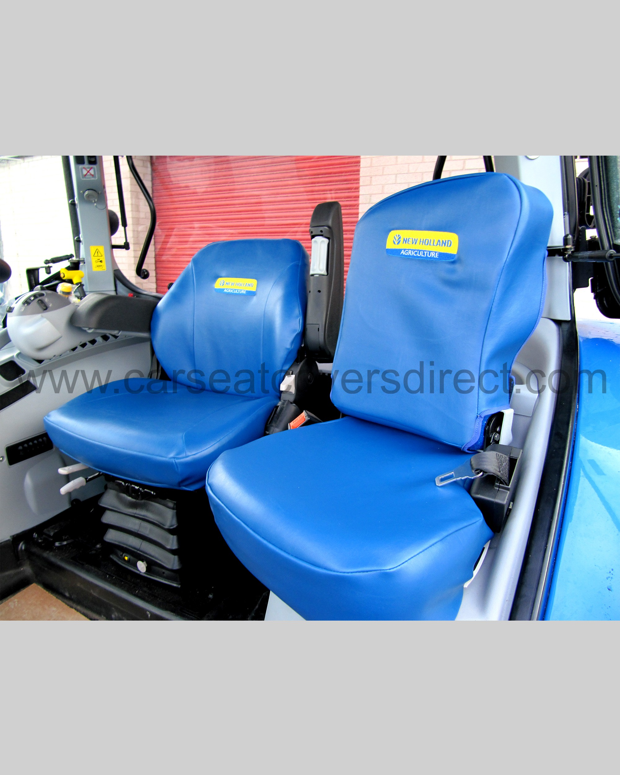 Tractor Seat And Seat Covers : New holland tailored seat covers with logos car