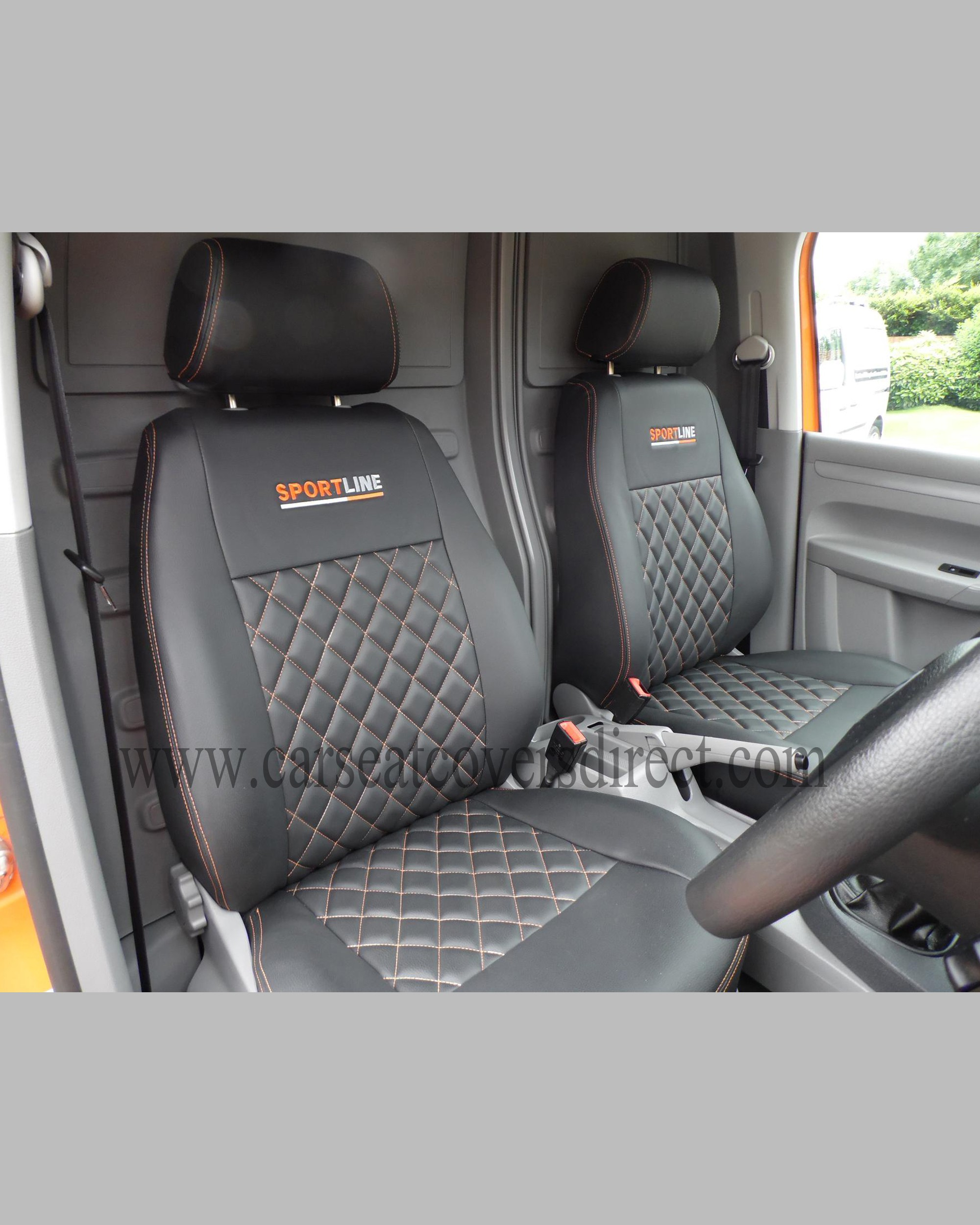 VOLKSWAGEN VW Caddy Black Seat Covers