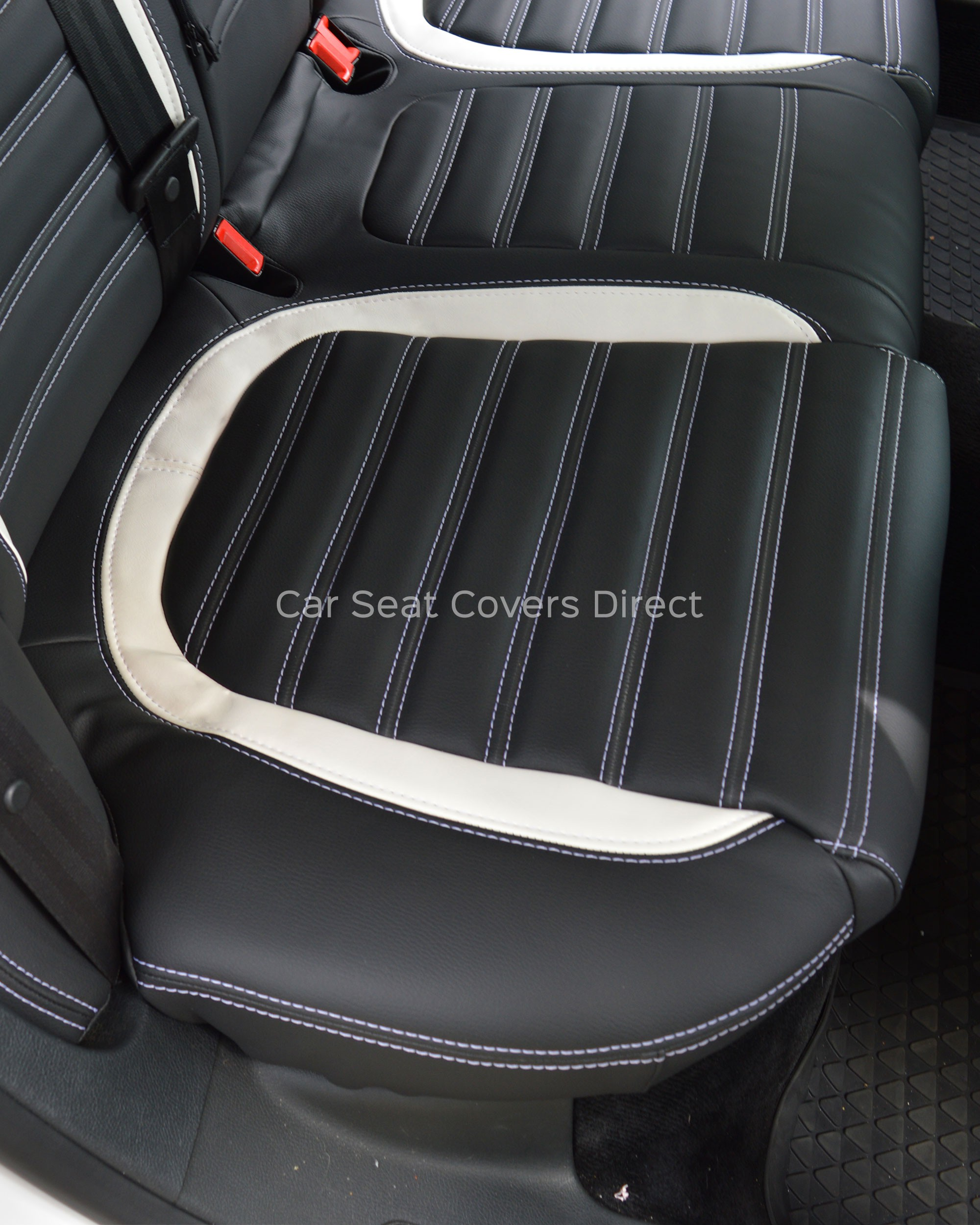 Vw Passat Cc Tailored Seat Covers Charcoal Amp White