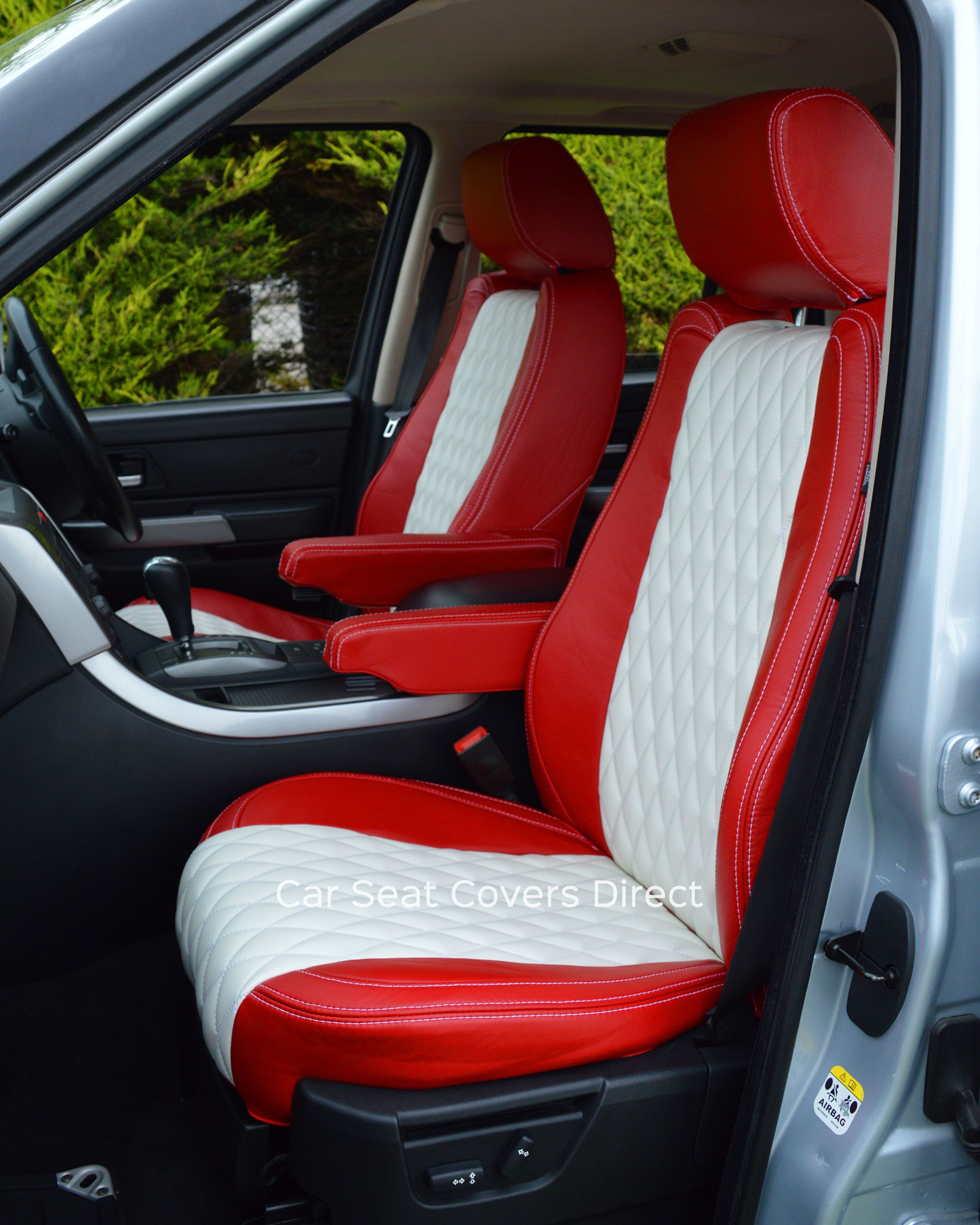 Range rover sport tailored leather seat covers - Range rover with red leather interior ...