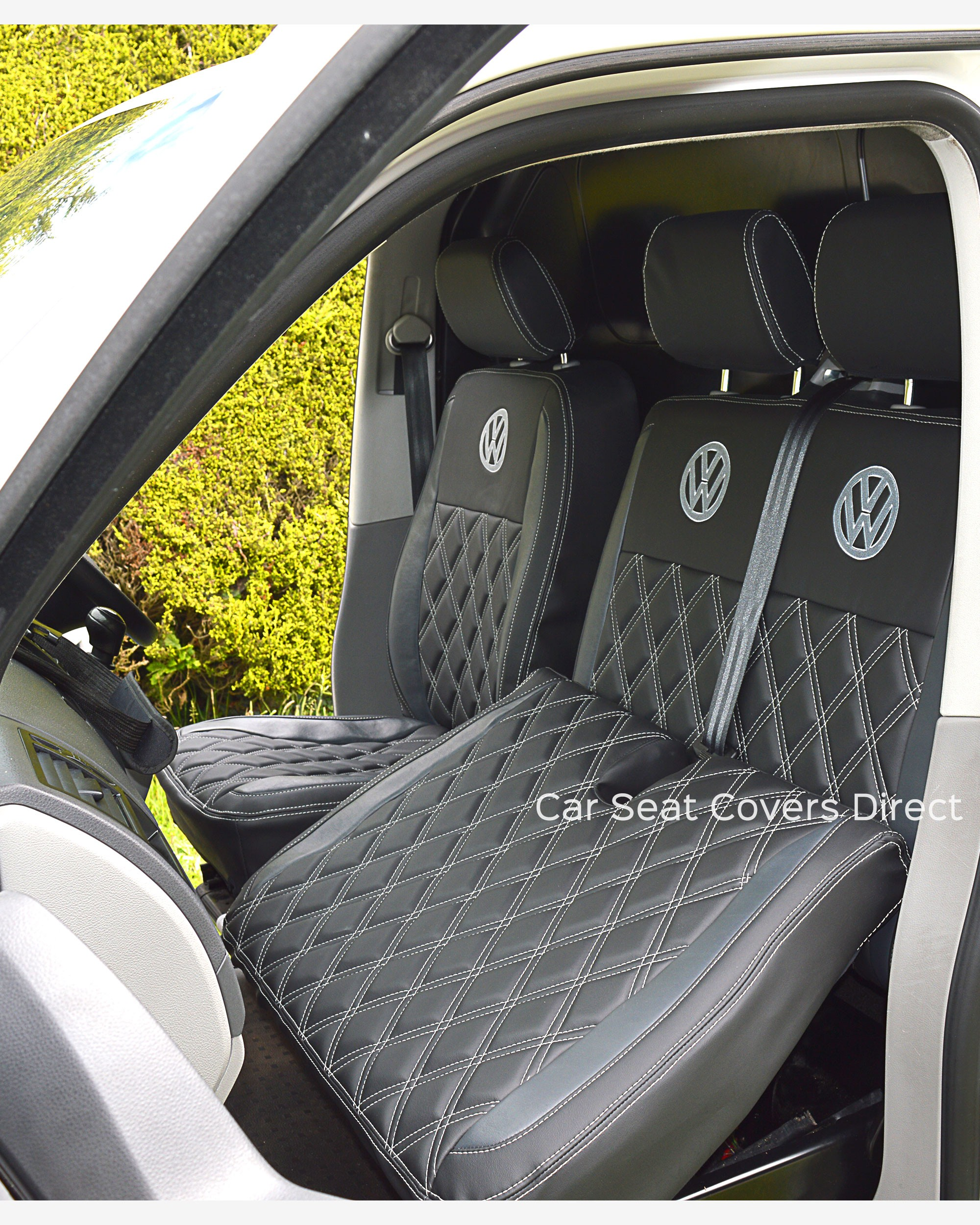 Car Bench Seat Covers >> Volkswagen VW Transporter T5 Tailored Seat Covers Car Seat ...