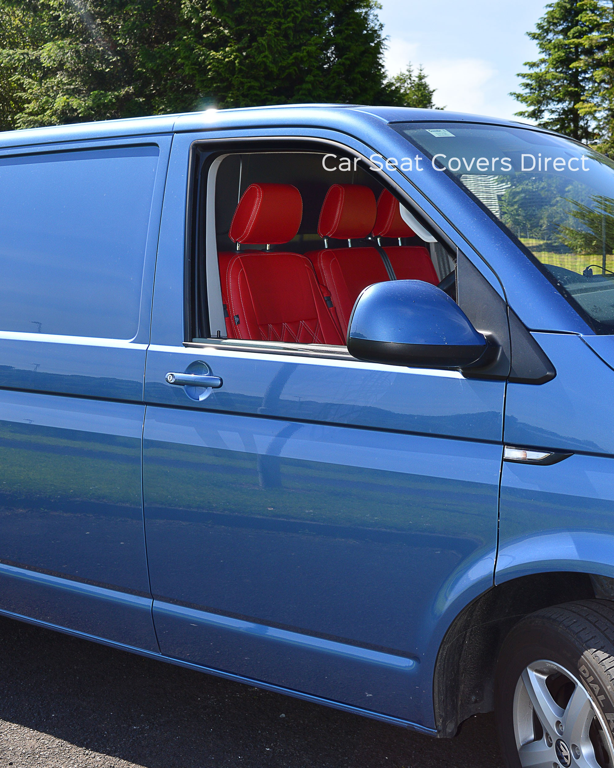 Volkswagen Vw Transporter T6 Tailored Red Seat Covers