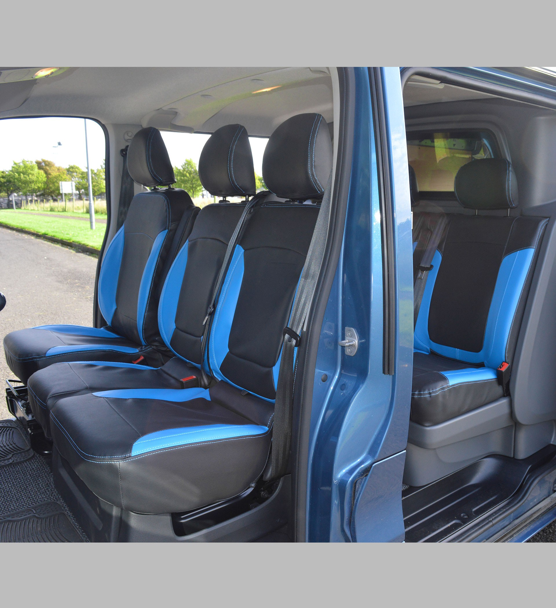 RENAULT TRAFIC BUSINESS VAN SEAT COVERS LEATHER DELUXE HEAVY DUTY 2+1