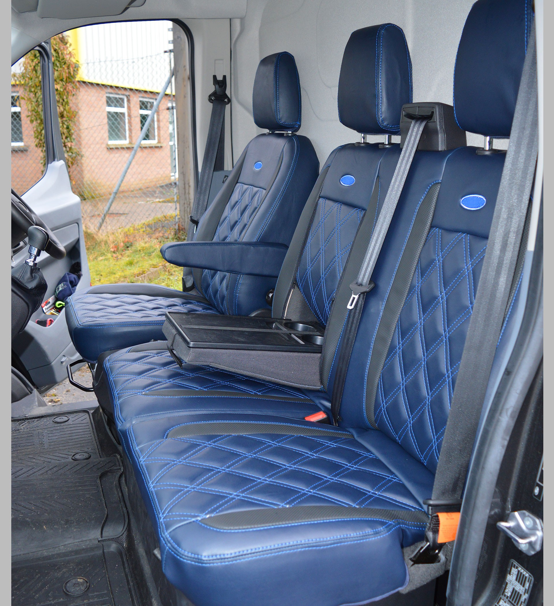 Ford Transit MK8 Tailored Diamond Quilted Seat Covers