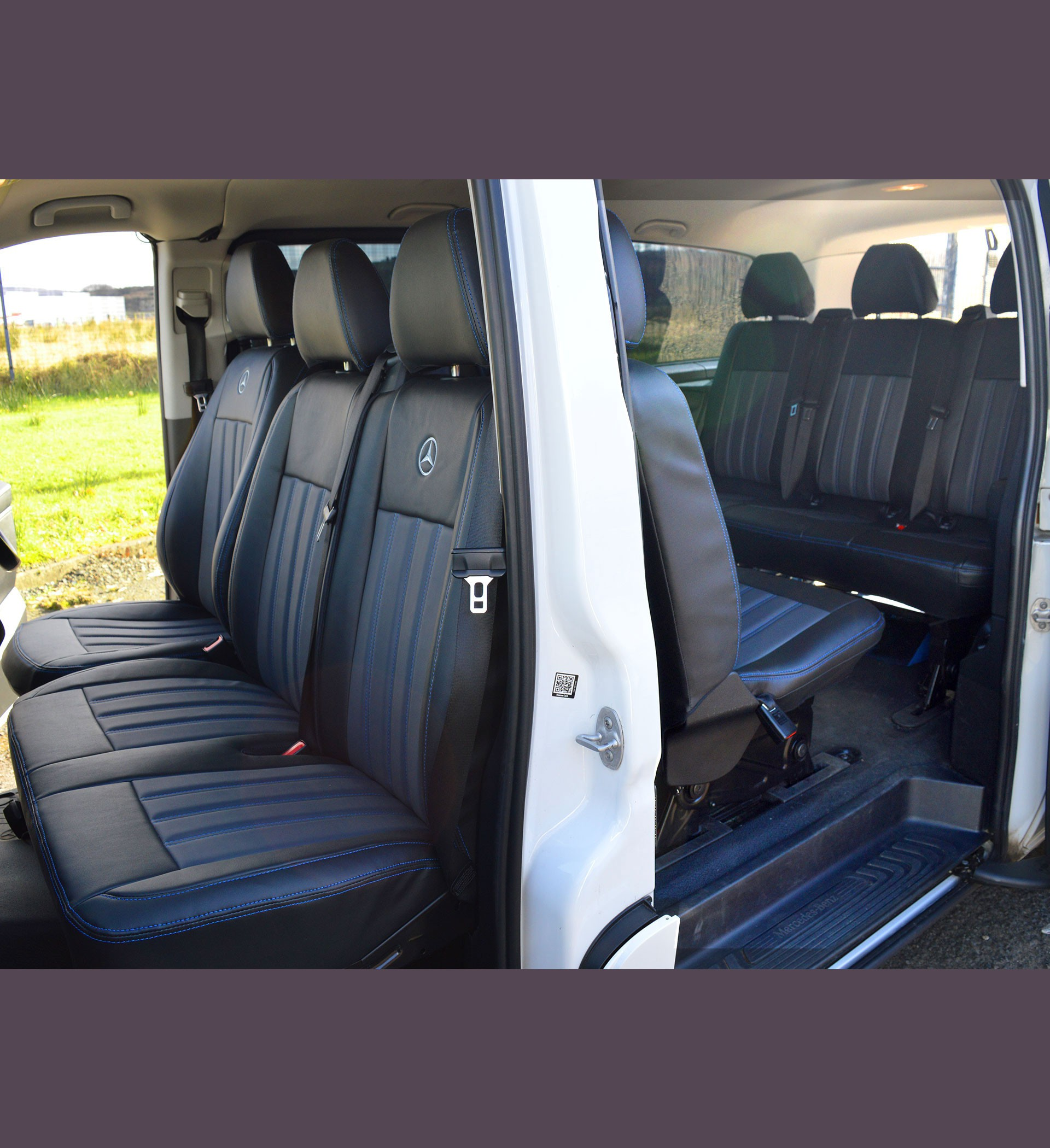 Mercedes Benz Vito W447 9 Seater Tailored Van Seat Covers Car Seat Covers Direct - Tailored To ...