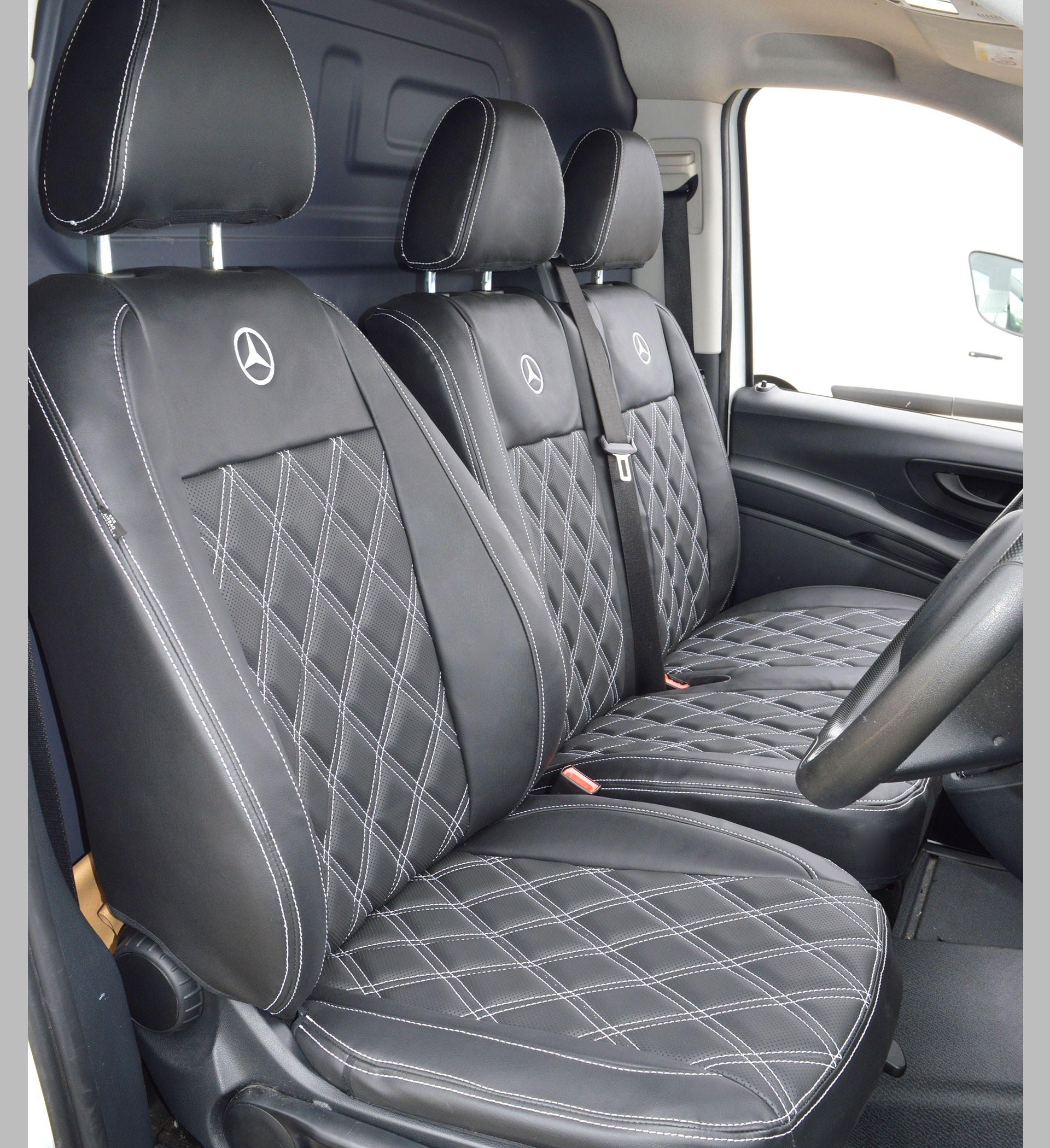 Mercedes Benz Vito W447 Tailored Diamond Quilted Van Seat Covers