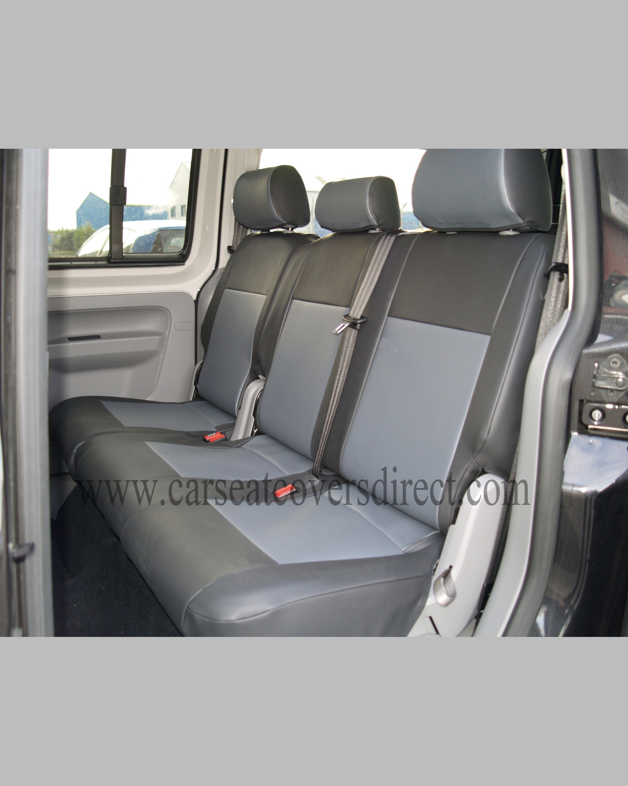 volkswagen vw caddy life black grey seat covers car seat covers direct tailored to your choice. Black Bedroom Furniture Sets. Home Design Ideas