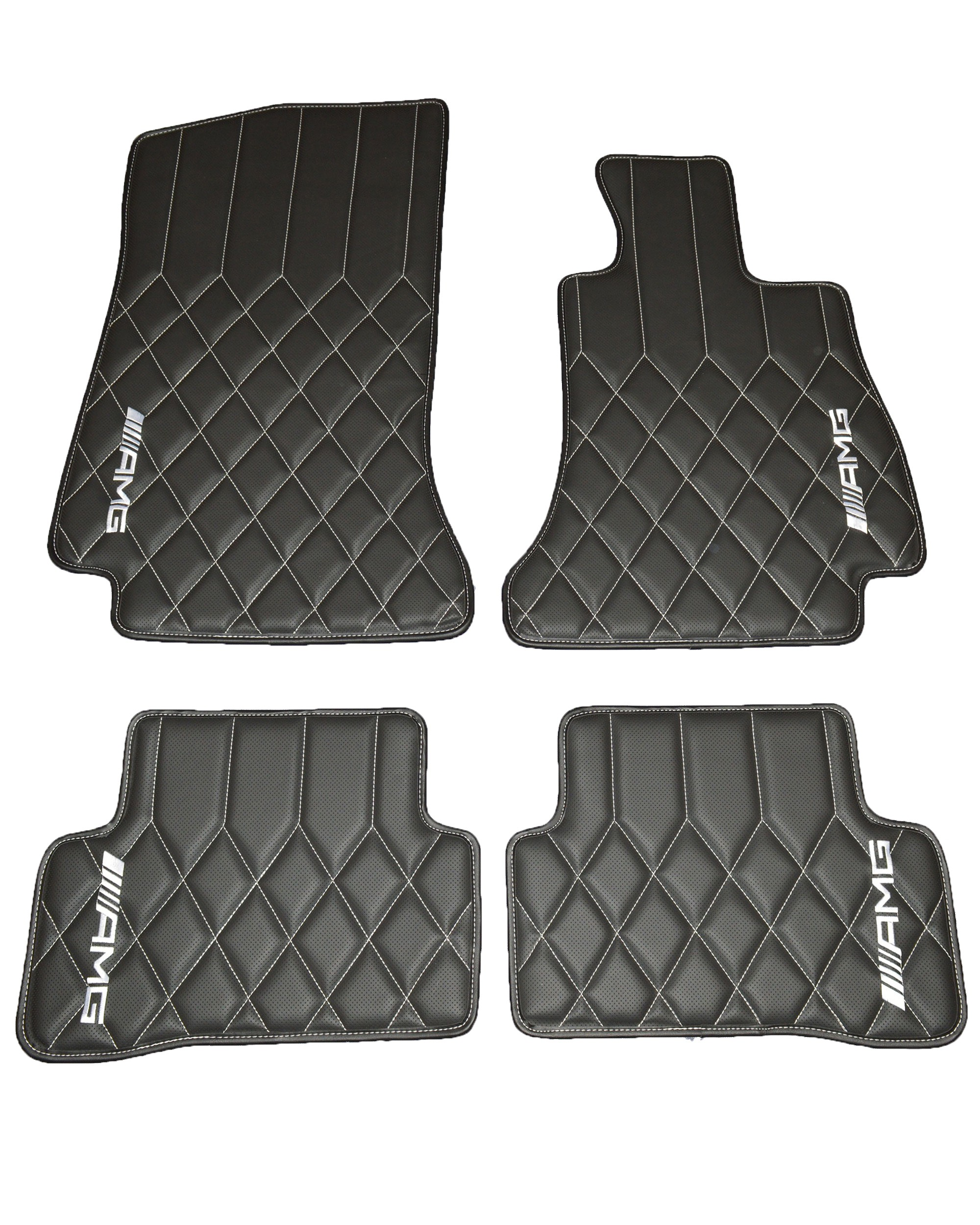 Mercedes Benz C Class W205 AMG Diamond Quilted Leatherette Floor mats
