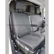 Citroen Dispatch Heavy Duty Seat Covers - drivers seat with armrest down