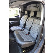 Citroen Berlingo 2nd Gen (2008-2018) Black and Grey Custom Made Seat Covers