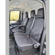 Ford Transit LWB/Tipper Extra Heavy Duty Waterproof Black Seat Covers