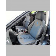 Custom PEUGEOT 308 Black & Blue Seat Covers