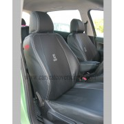 Custom PEUGEOT 307 Black Leatherette Seat Covers