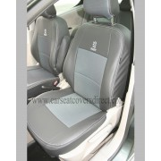 Custom PEUGEOT 307 Black Leatherette Seat Covers With Cloth Centres