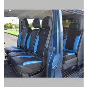 Opel Vivaro Crew / Double Cab Tailored Leather Look Van seat covers