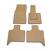 BMW X5 Beige Car Mats With Black Leatherette Binding