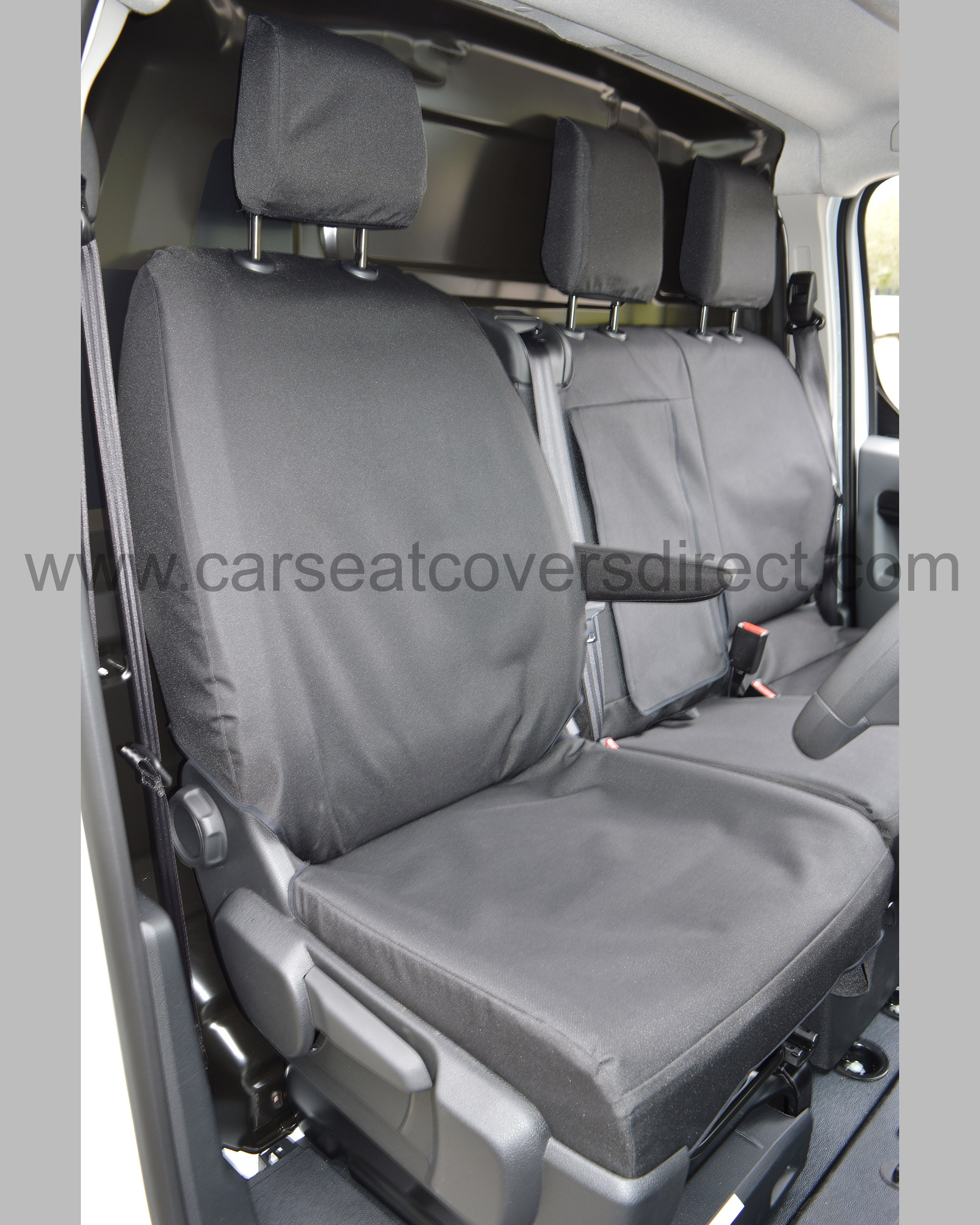 Peugeot Expert Heavy Duty Seat Covers - drivers seat with armrest down
