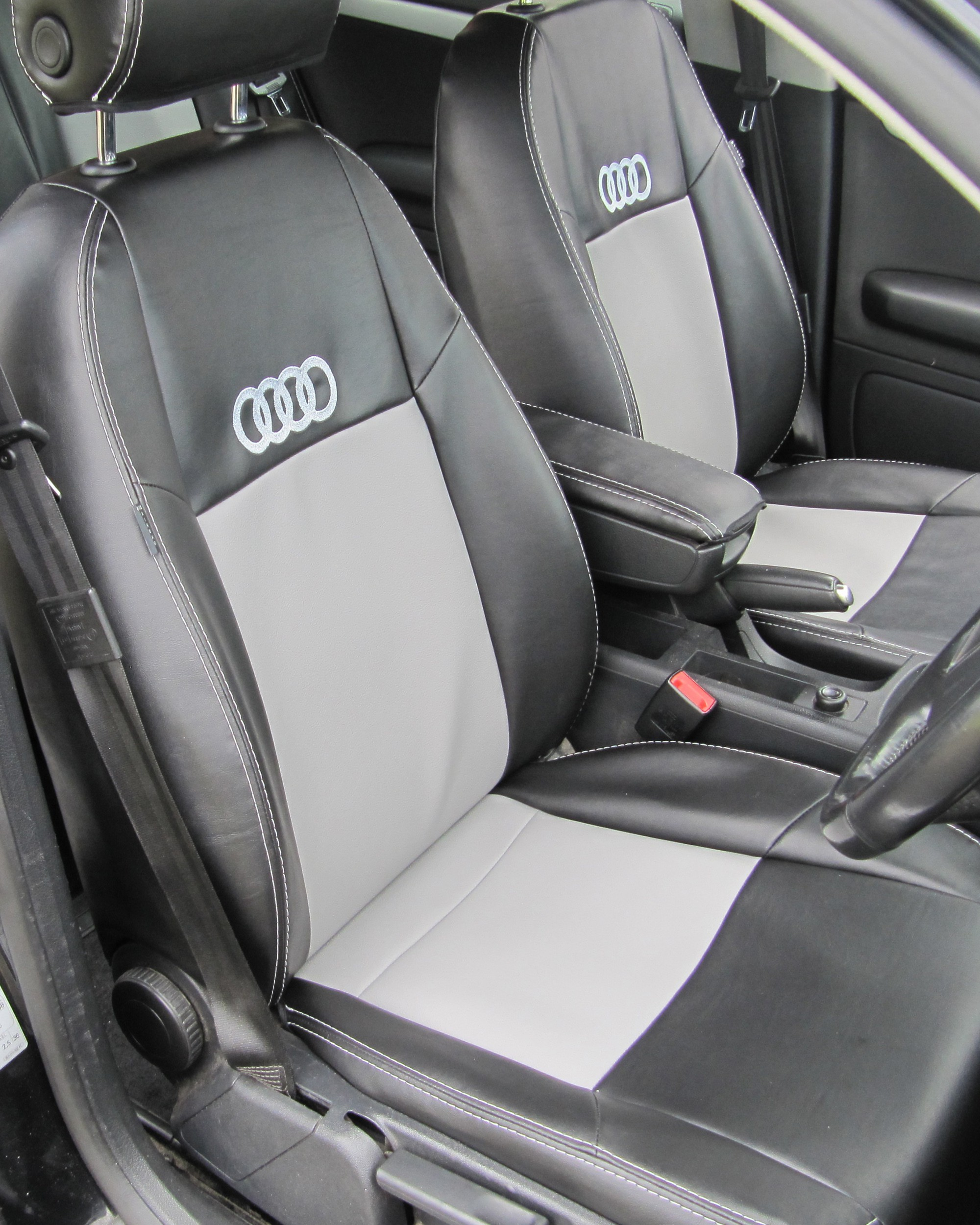 Audi A4 B8 Black & Grey With Logos
