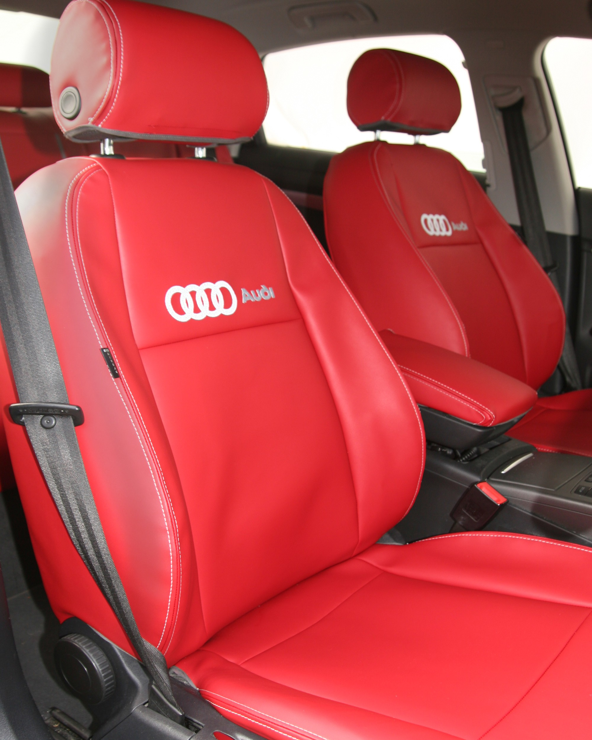 Audi A6 Red Car Seat Covers