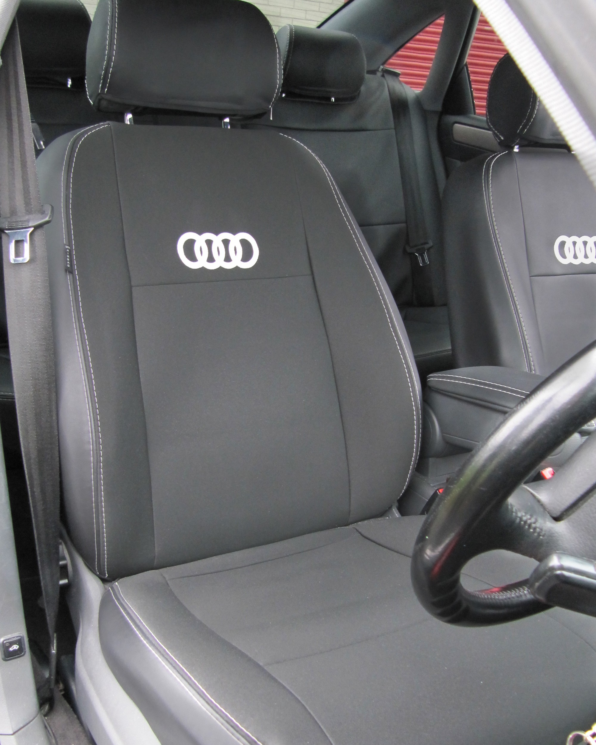 Audi A6 Seat Covers - Black With Logos