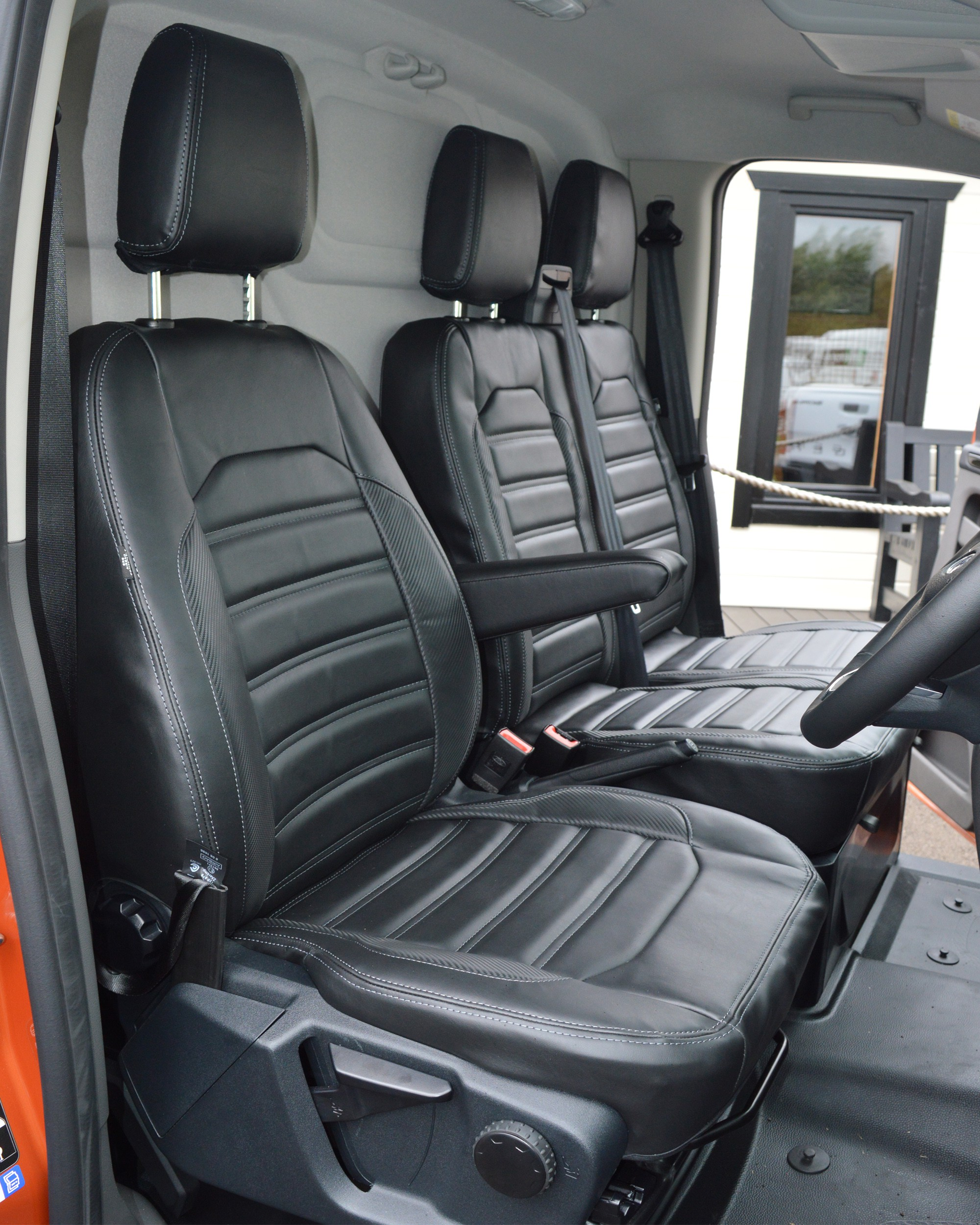 Ford Transit Custom (2013- onwards) Horizontal Quilting Seat Covers