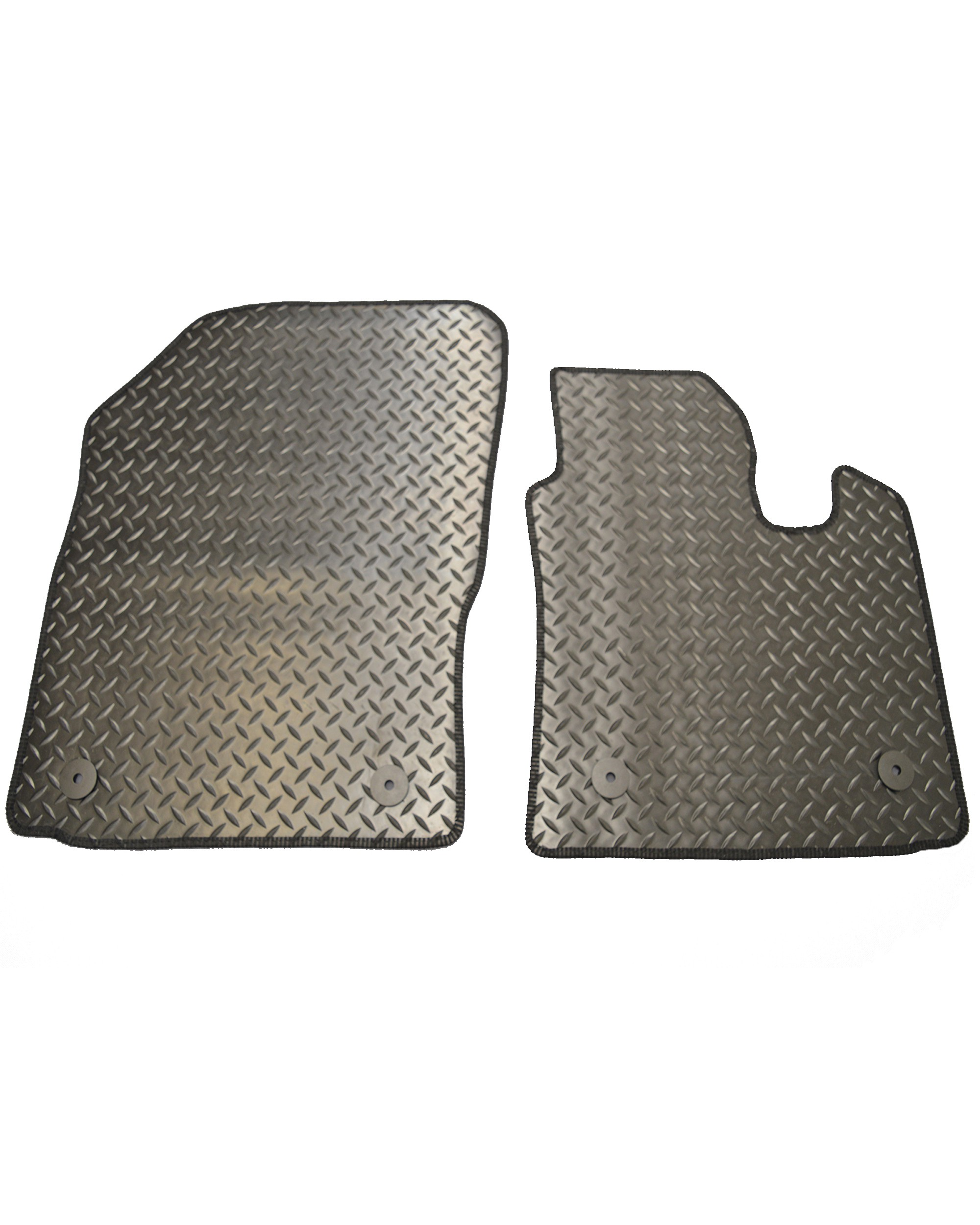 Volkswagen Caddy Checker Plate Rubber Mats
