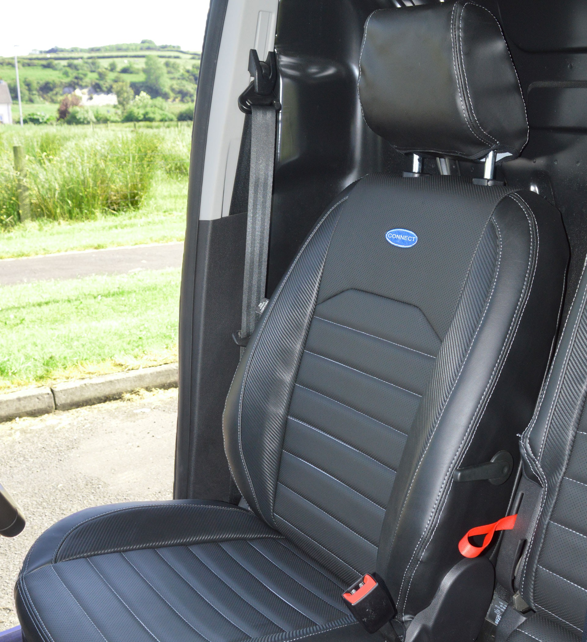 Ford Transit Connect Waterproof Tailored Quilted Seat Covers