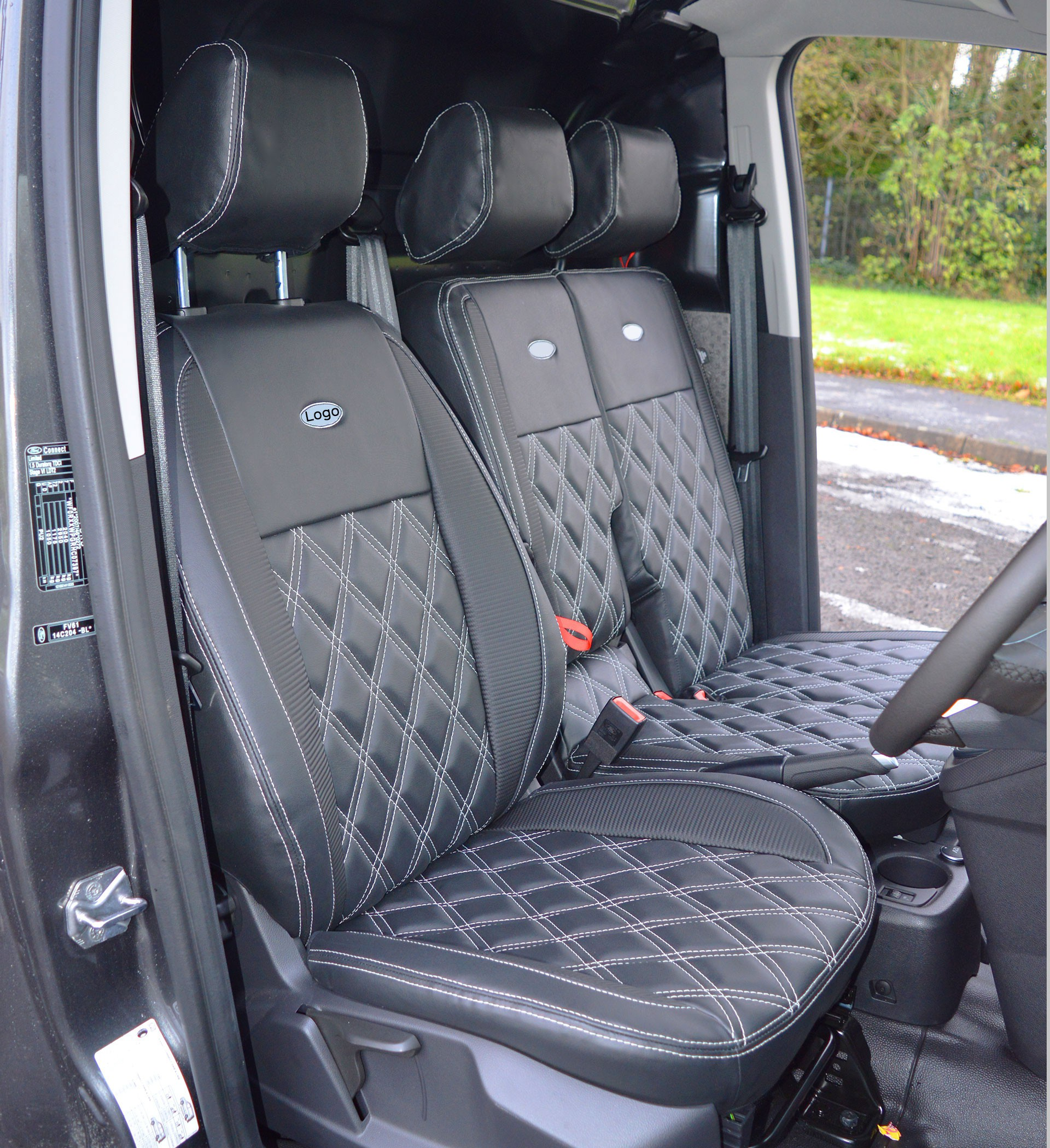 Ford Transit Connect Waterproof Tailored Diamond Quilted Seat Covers