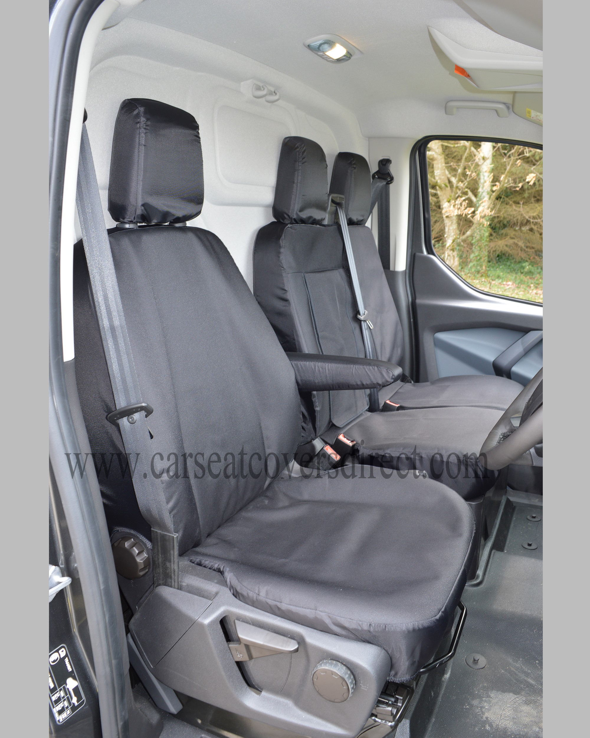 FORD TRANSIT Custom Extra Heavy Duty Black Seat Covers