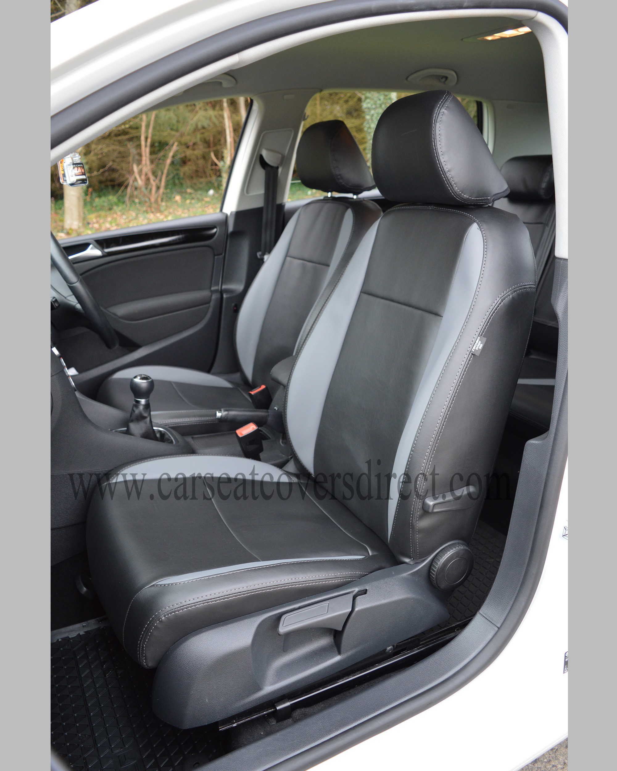 VOLKSWAGEN VW GOLF MK6 BLACK & GREY SEAT COVERS