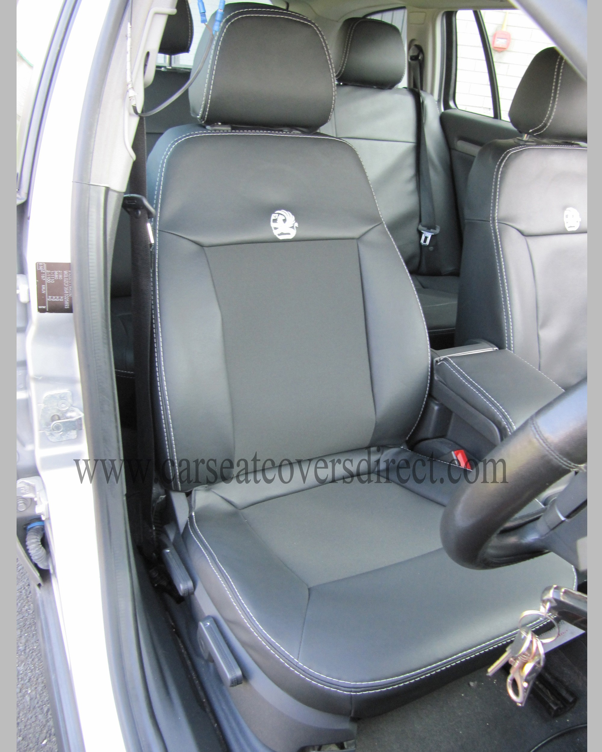OPEL VECTRA C Black Leatherette Seat Covers