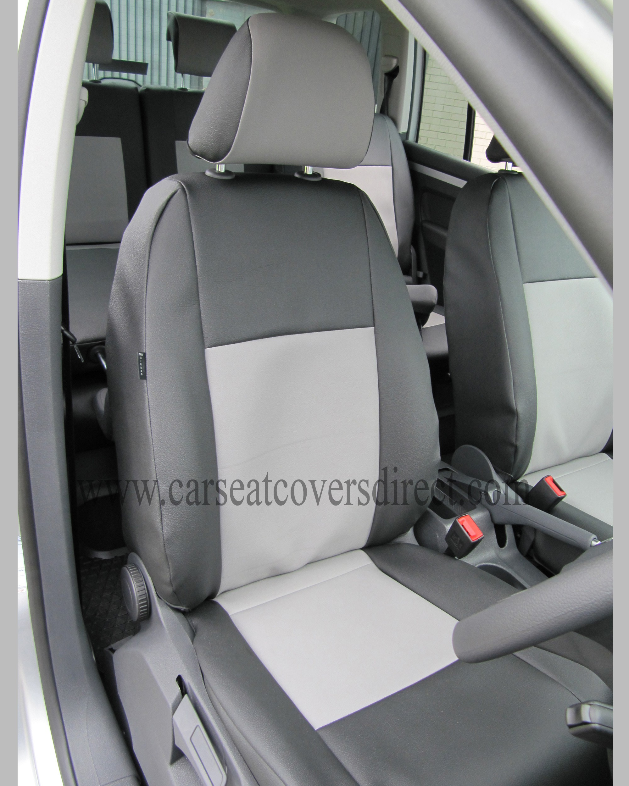 VOLKSWAGEN VW TOURAN Black & Grey Seat Covers: 7 Seats.