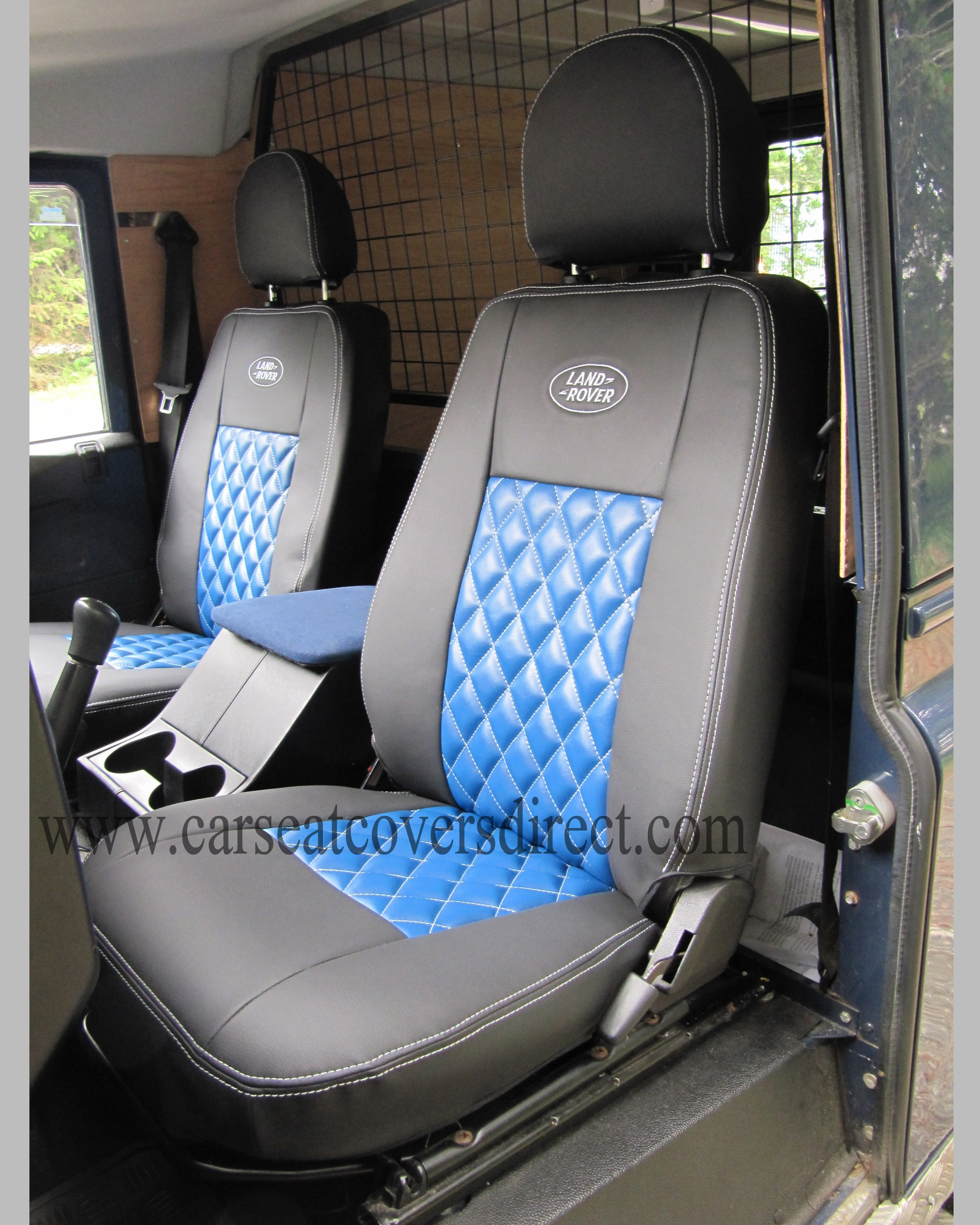 LANDROVER DEFENDER Blue Diamonds seat covers